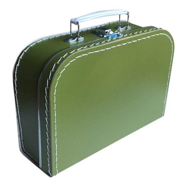 Kinderkoffertjes Koffertje olijfgroen - 25 cm