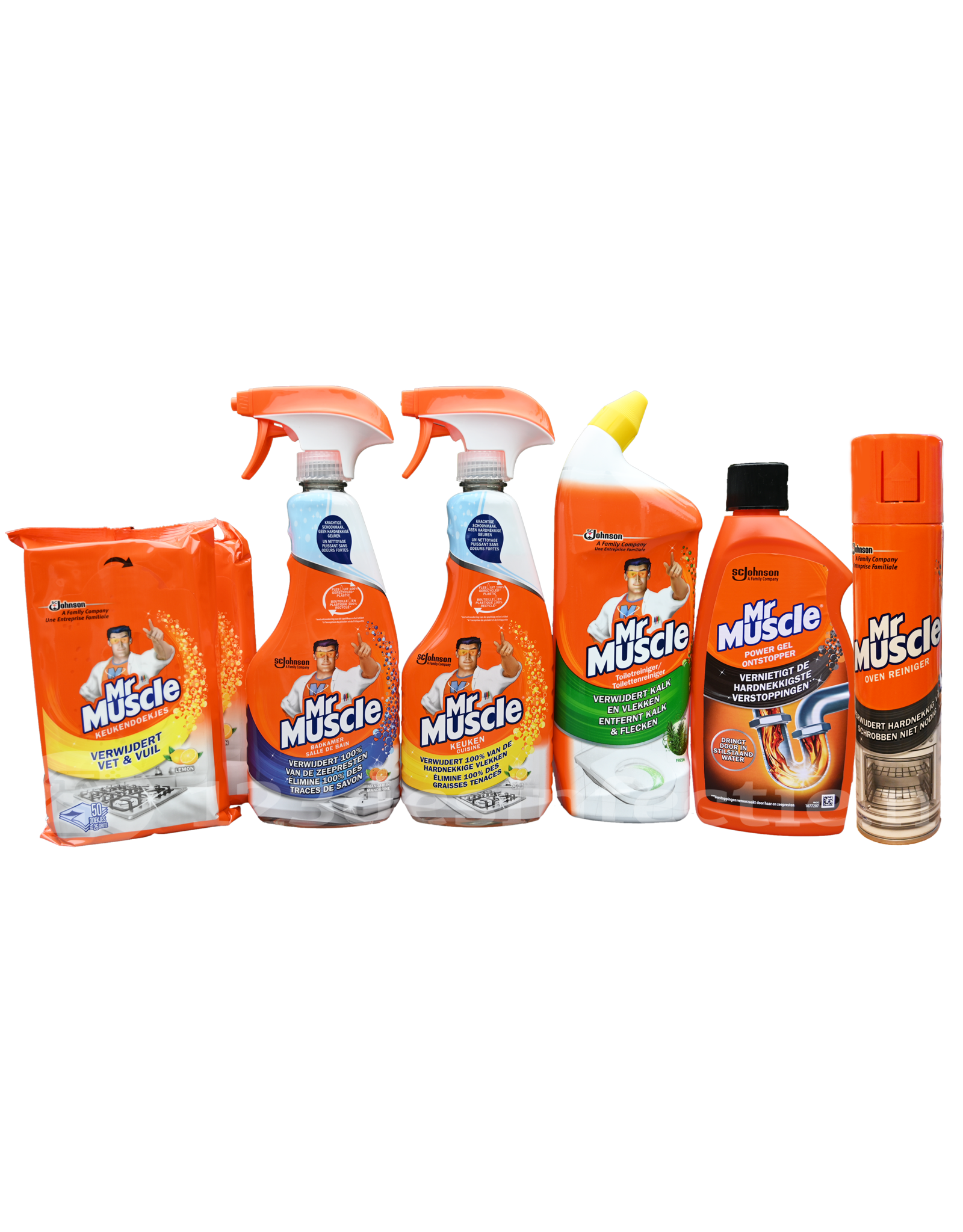 Mr Muscle Schoonmaak Pakket 2x Keukendoekjes Badkamer Keuken Spray Toiletreiniger Ontstopper Ovenreiniger 123desinfectie Nl