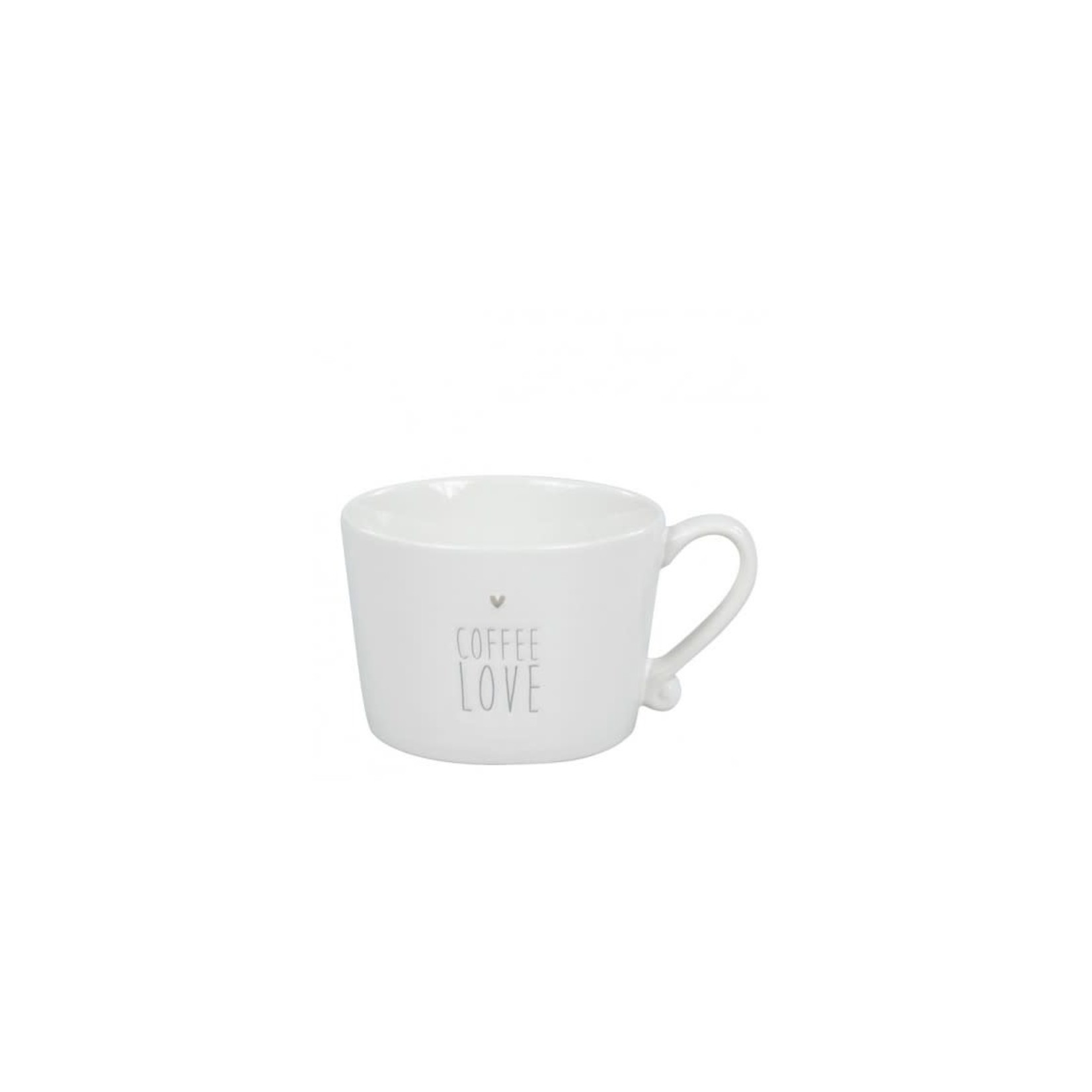 Bastion Collections Mug large White Coffee Love in Grey