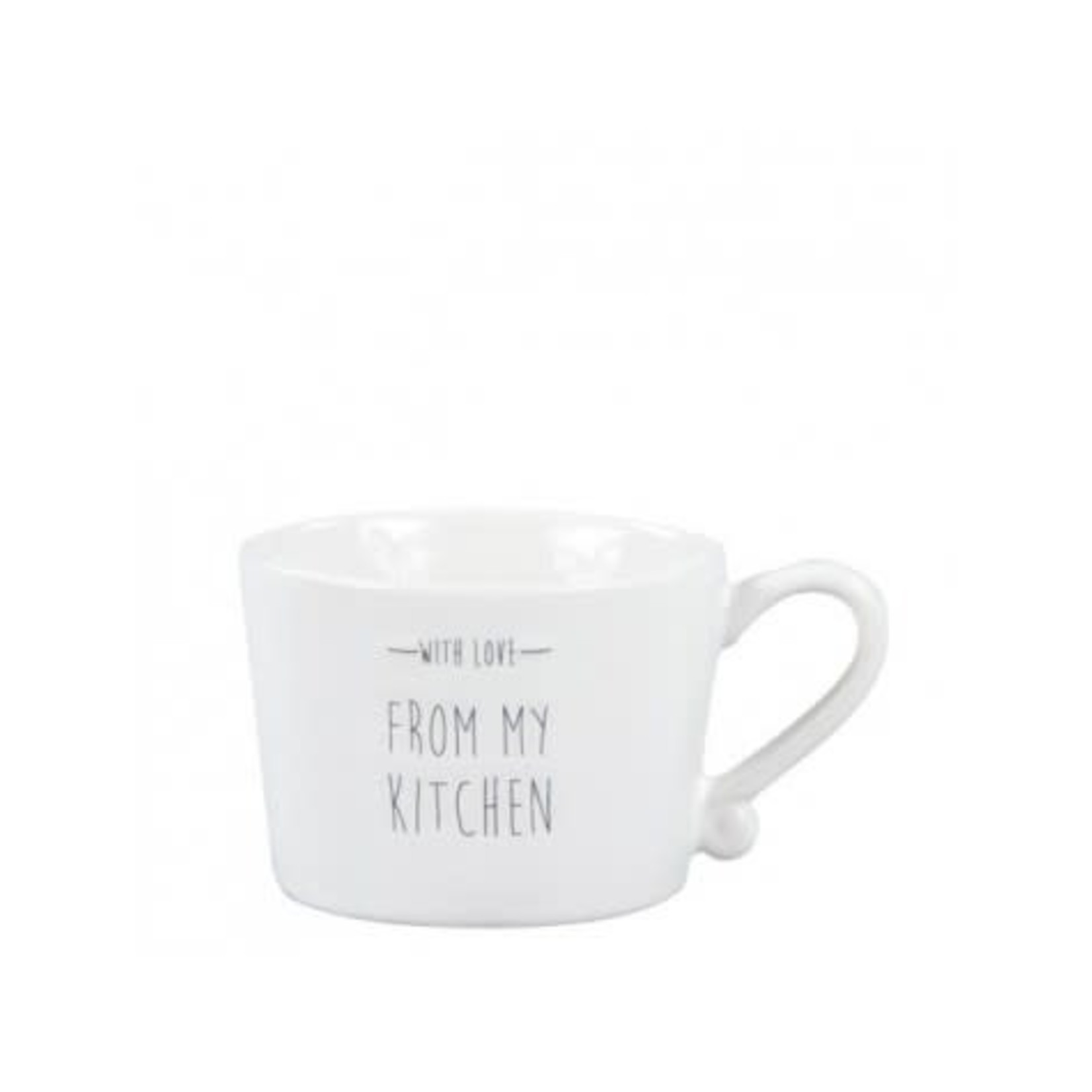 Bastion Collections Cup small White With Love From My Kitchen in Grey