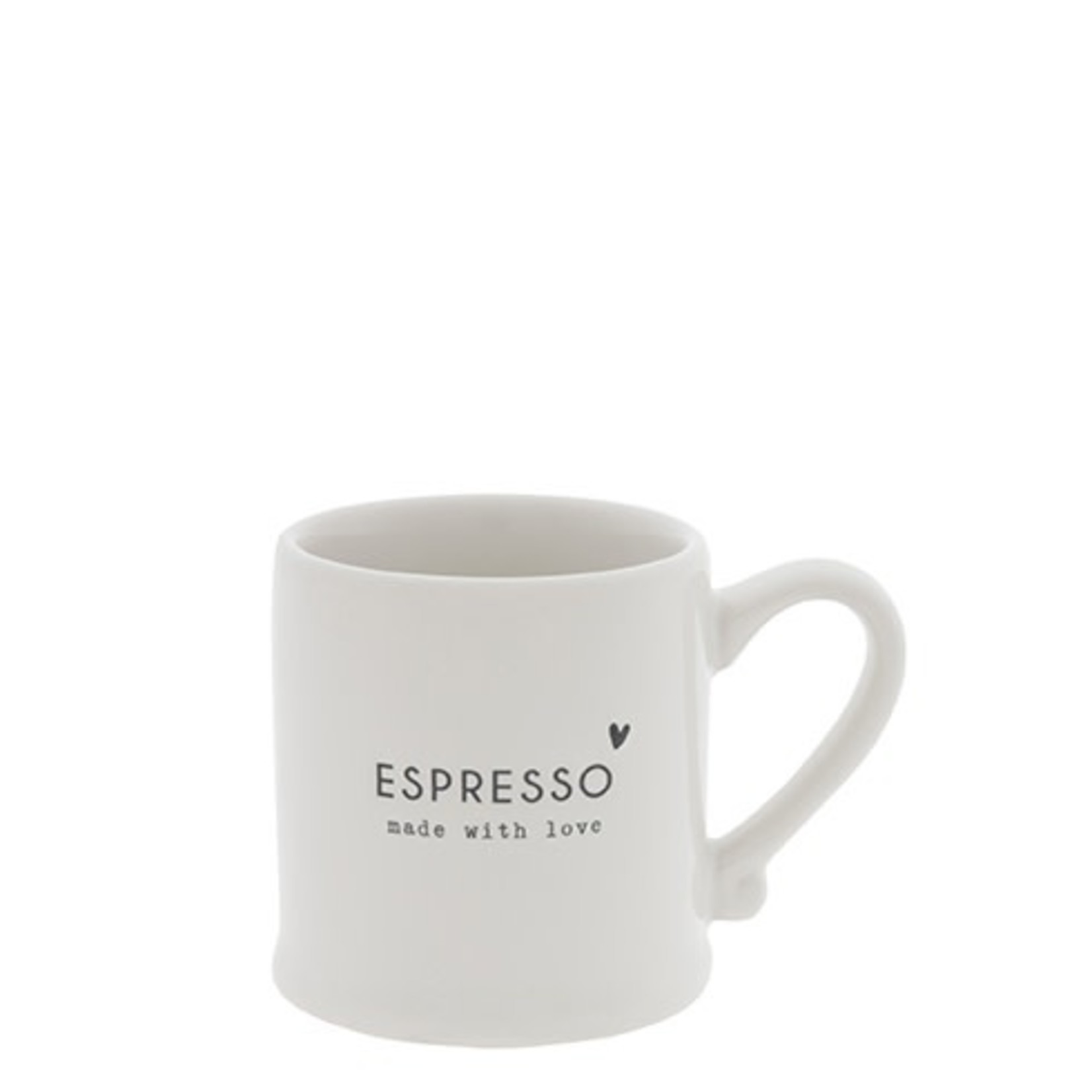 Bastion Collections Espresso White Made With Love in Black