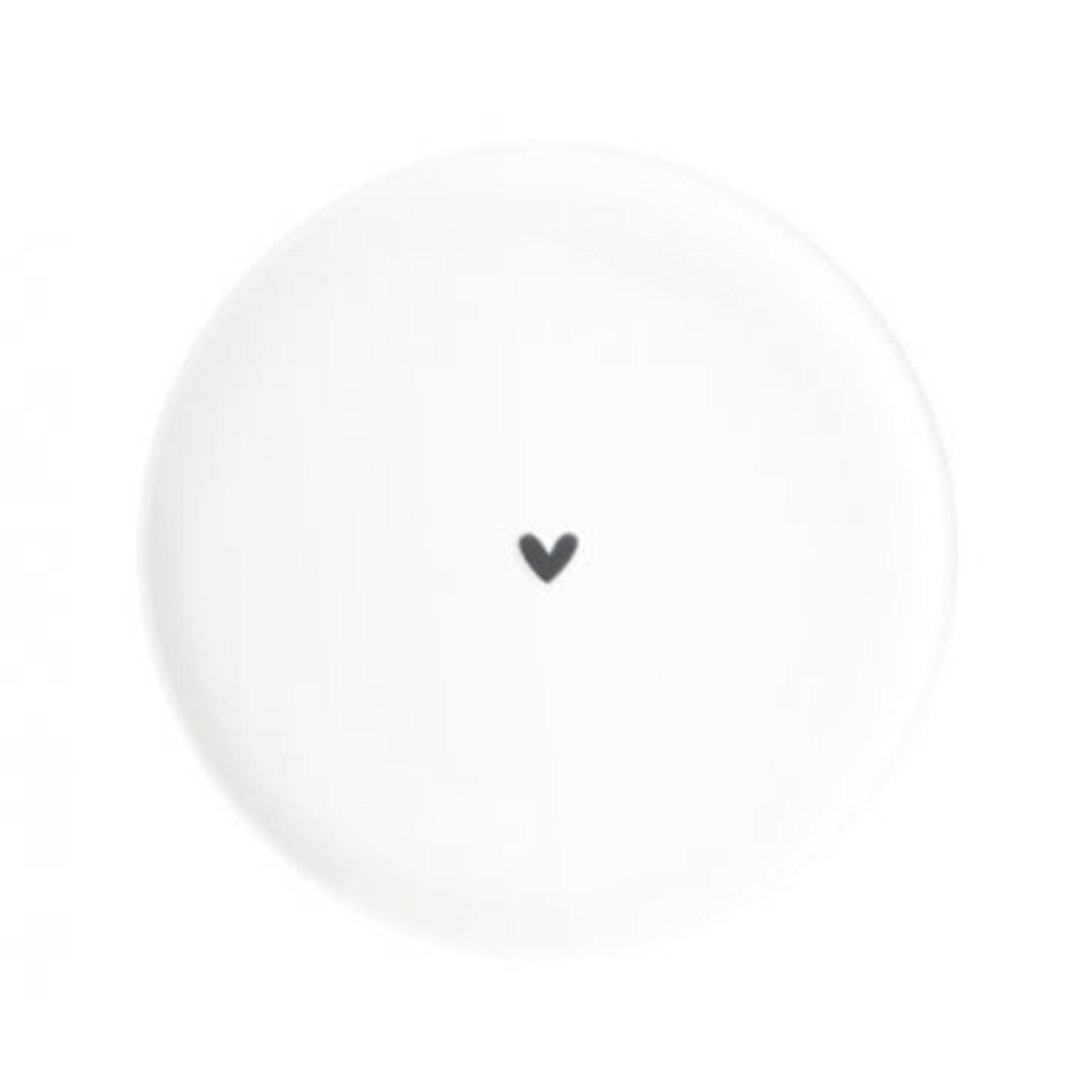 Bastion Collections Dessert Plate 19 cm  White Heart in Black