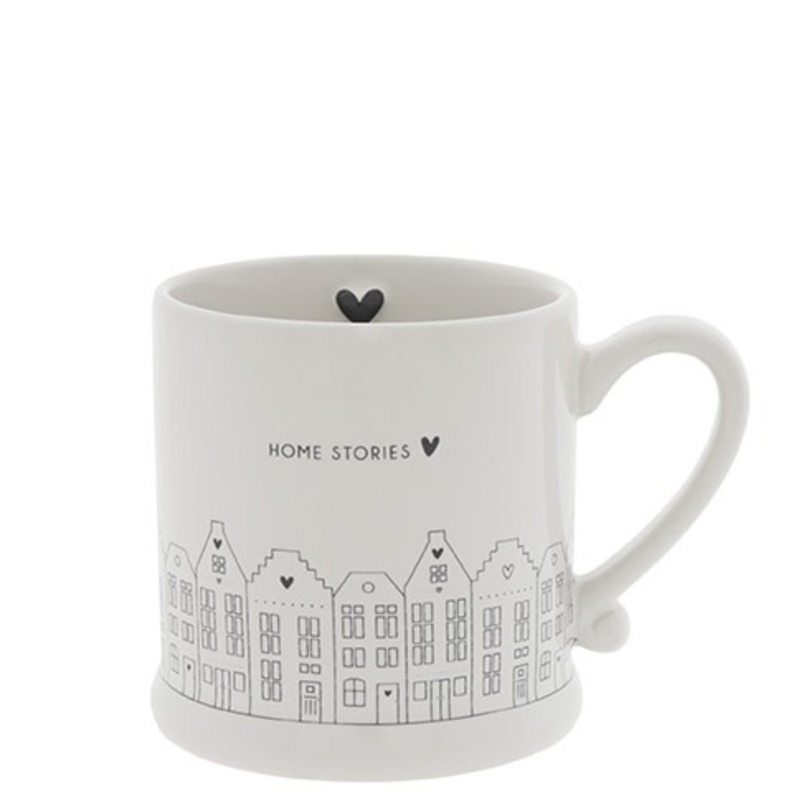 Bastion Collections Mug small White Canal Houses Home Stories in Black