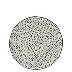 Bastion Collections Dessert Plate 19 cm White Dots in Black