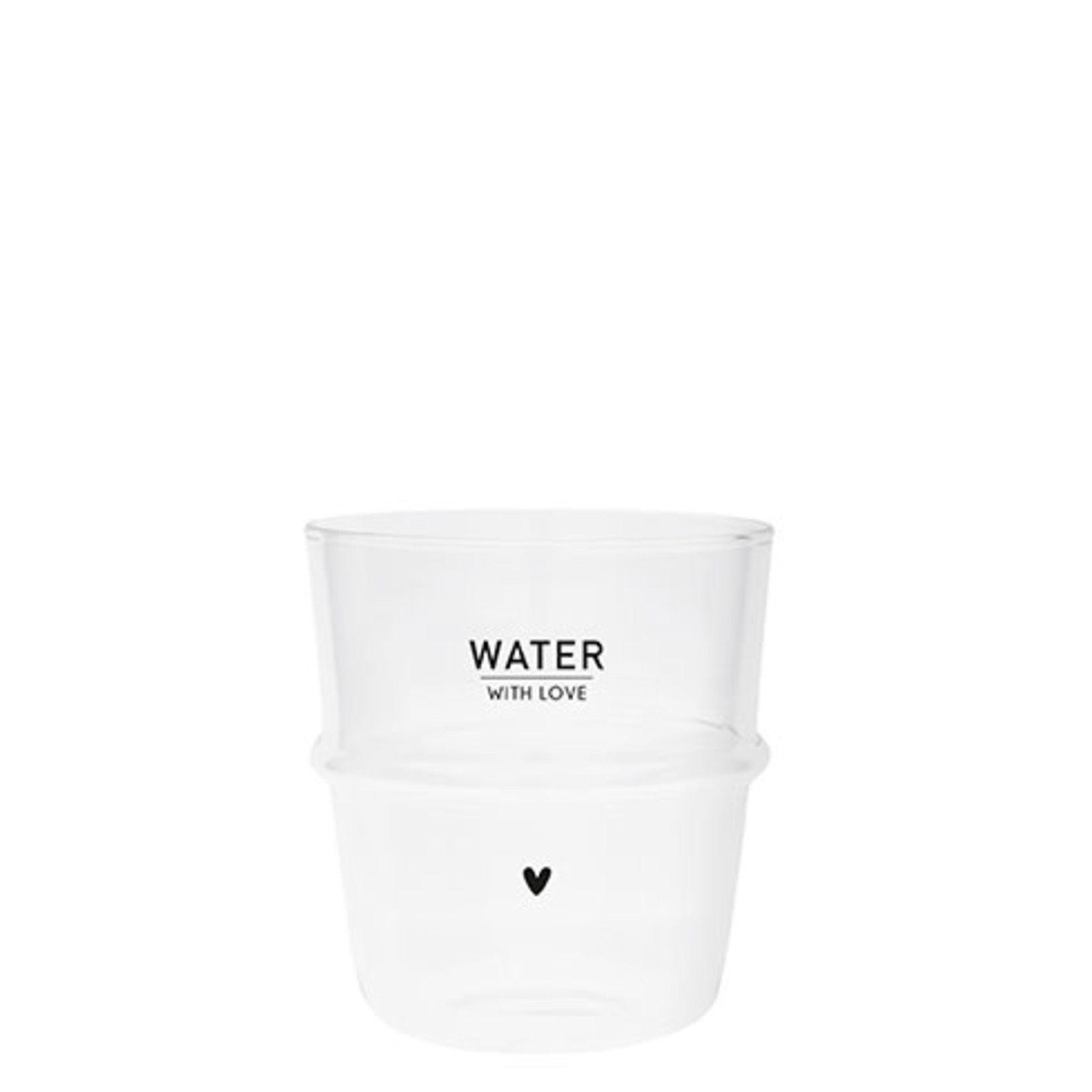 Bastion Collections Water Glass With Love in Black
