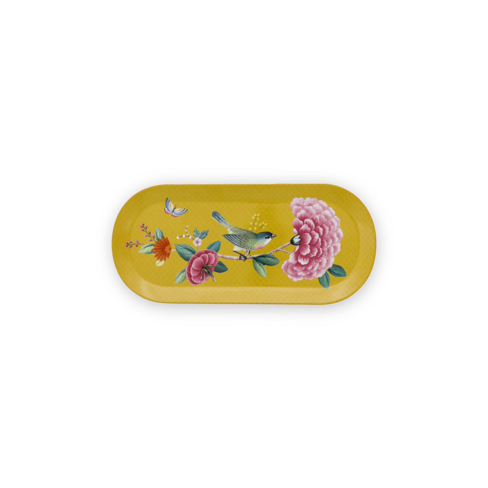 PIP Studio Cake Tray Rectangular Blushing Birds Yellow 33.3x15.5cm
