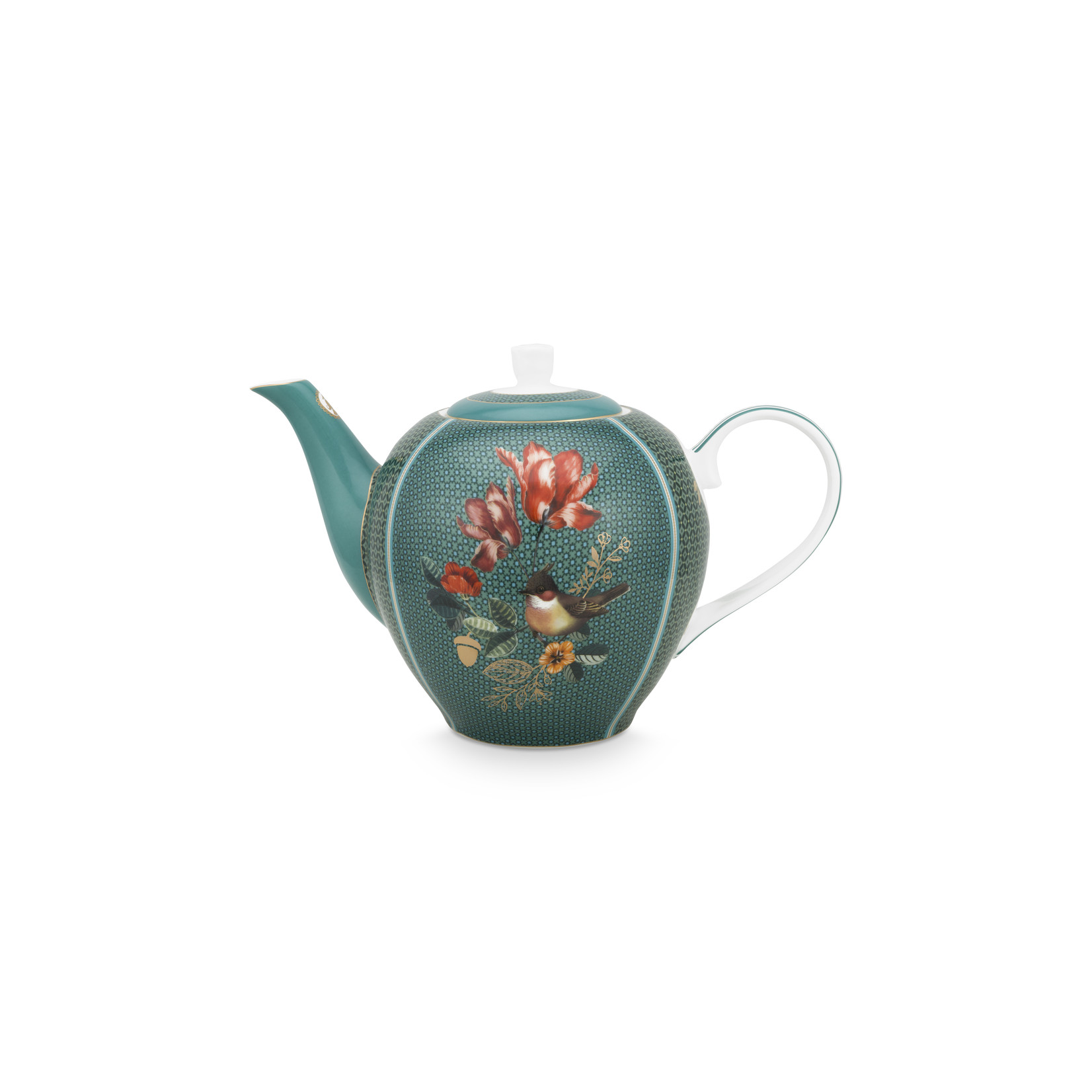 PIP Studio Tea Pot Large Winter Wonderland Squirrel Green 1.6ltr