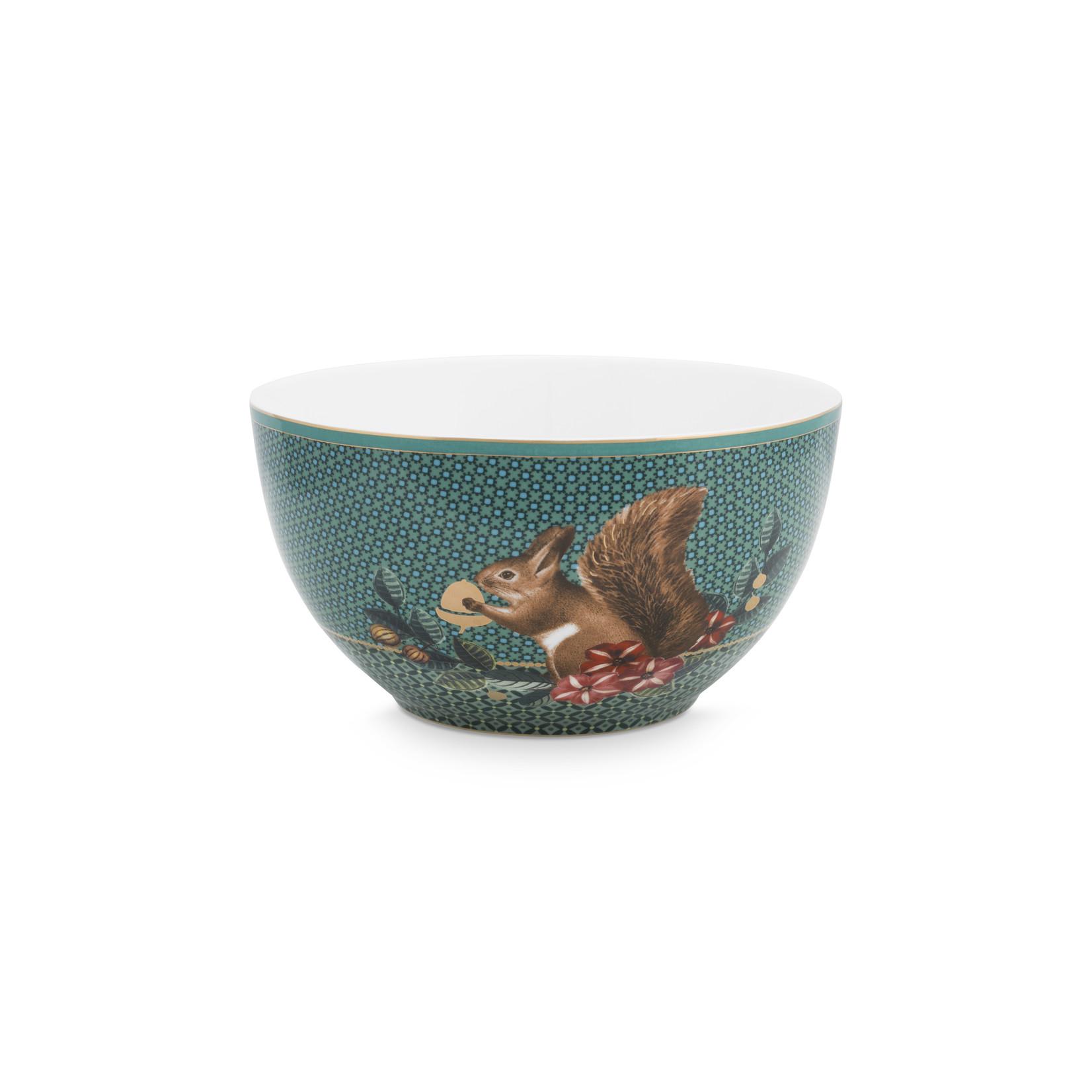 PIP Studio Bowl Winter Wonderland Squirrel Green 15cm