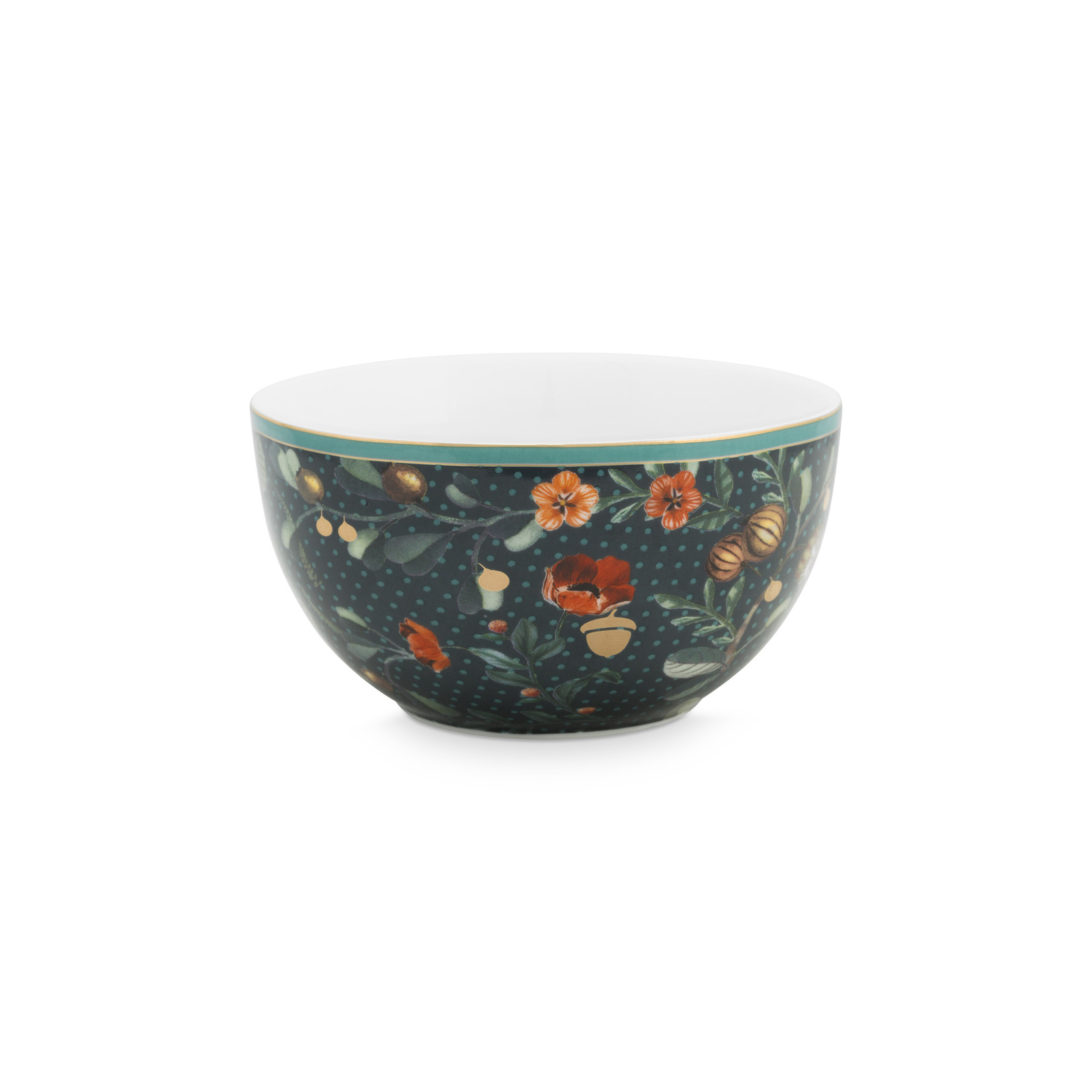 PIP Studio Bowl Winter Wonderland Overall Dark Blue 12cm