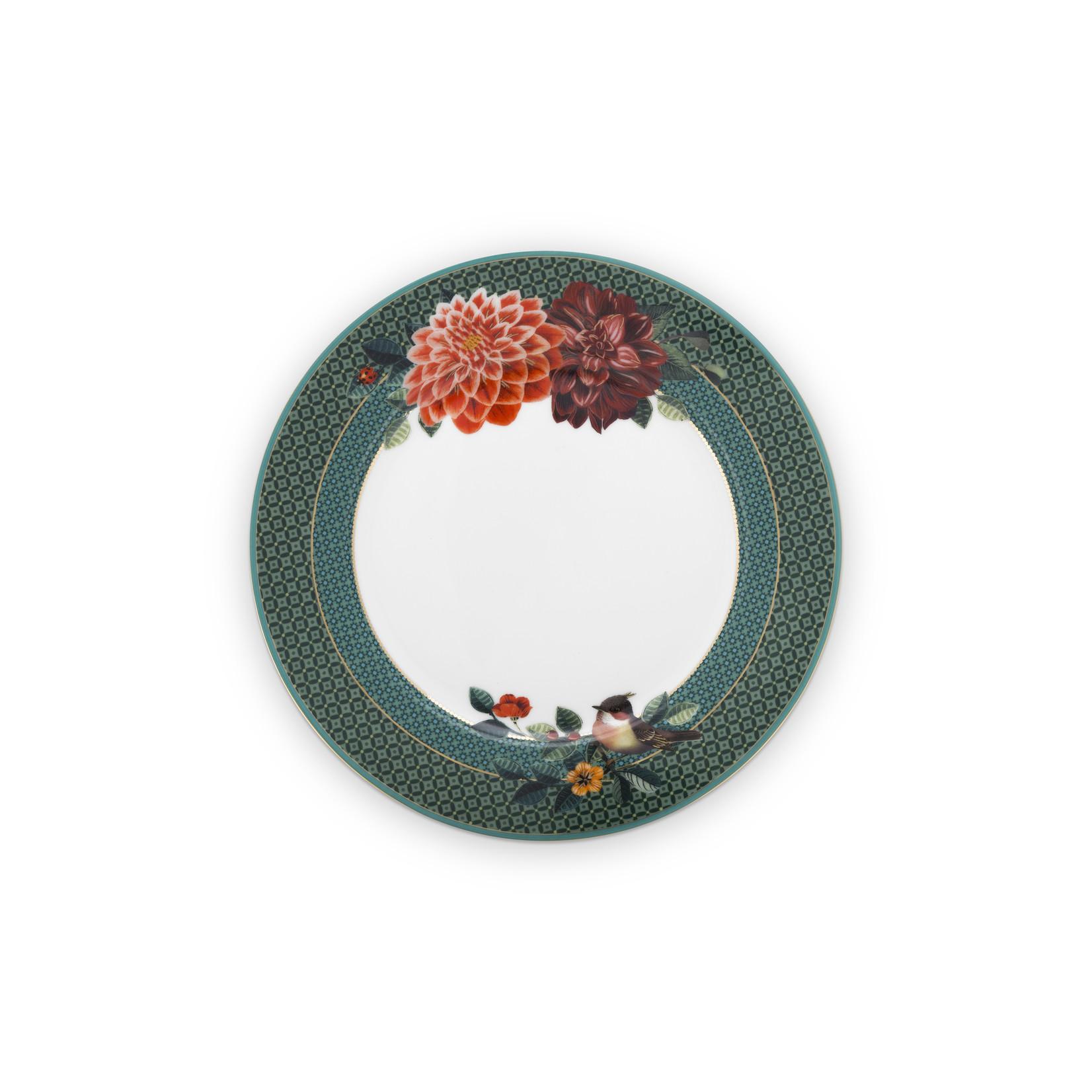 PIP Studio Plate Winter Wonderland Big Flower Green 21cm