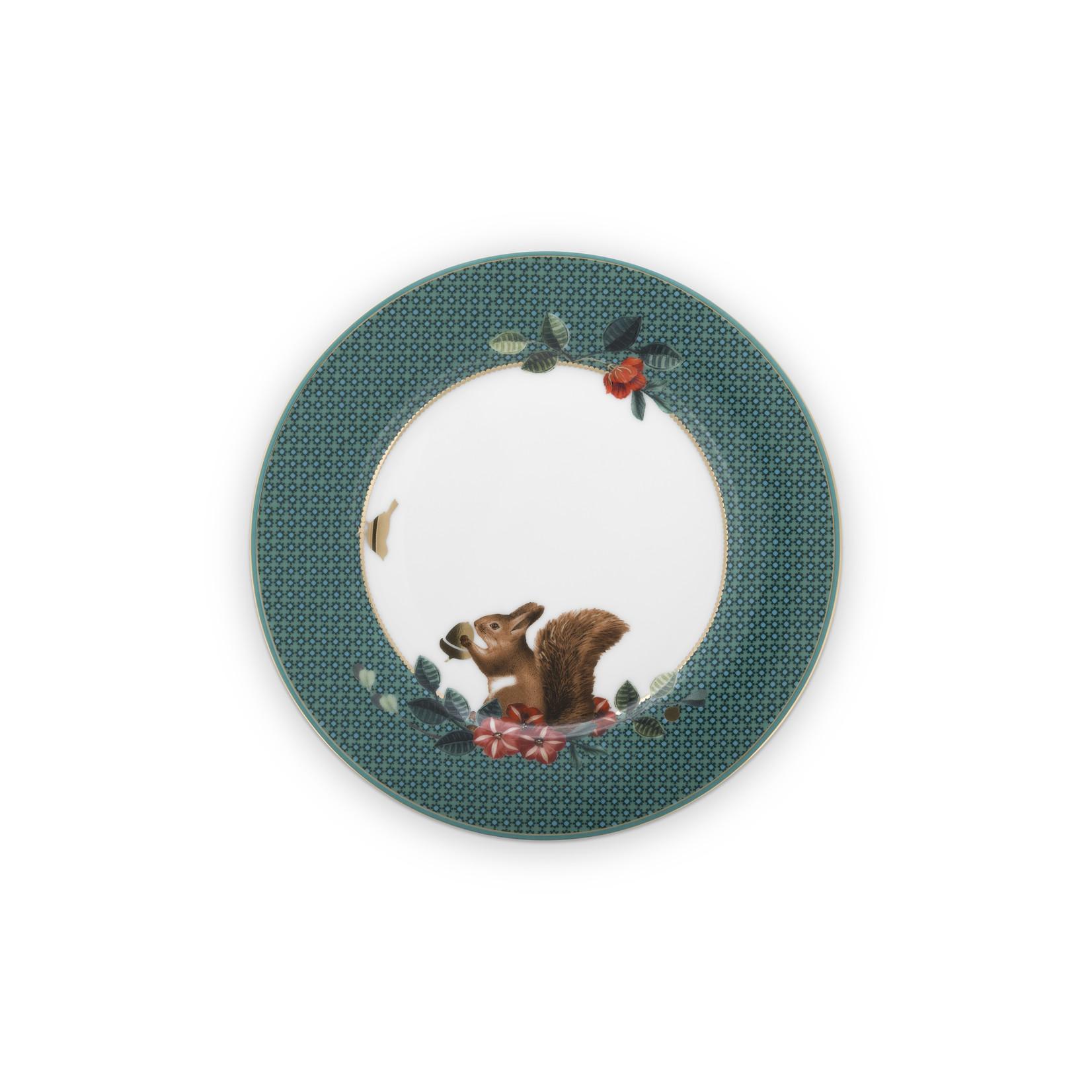 PIP Studio Plate Winter Wonderland Squirrel Green 17cm