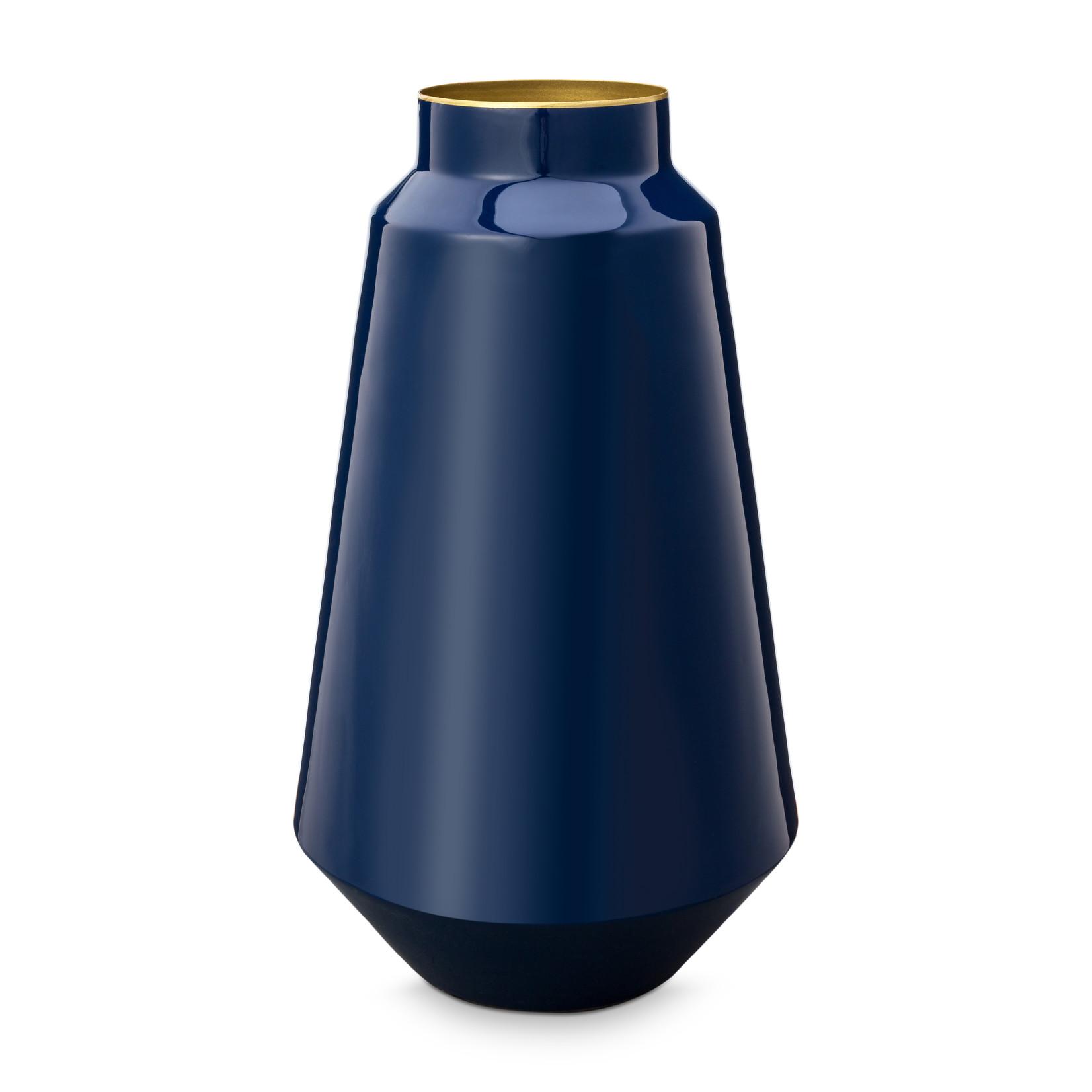 Pip Studio Home Accessoires Vase Metal Blue 36cm