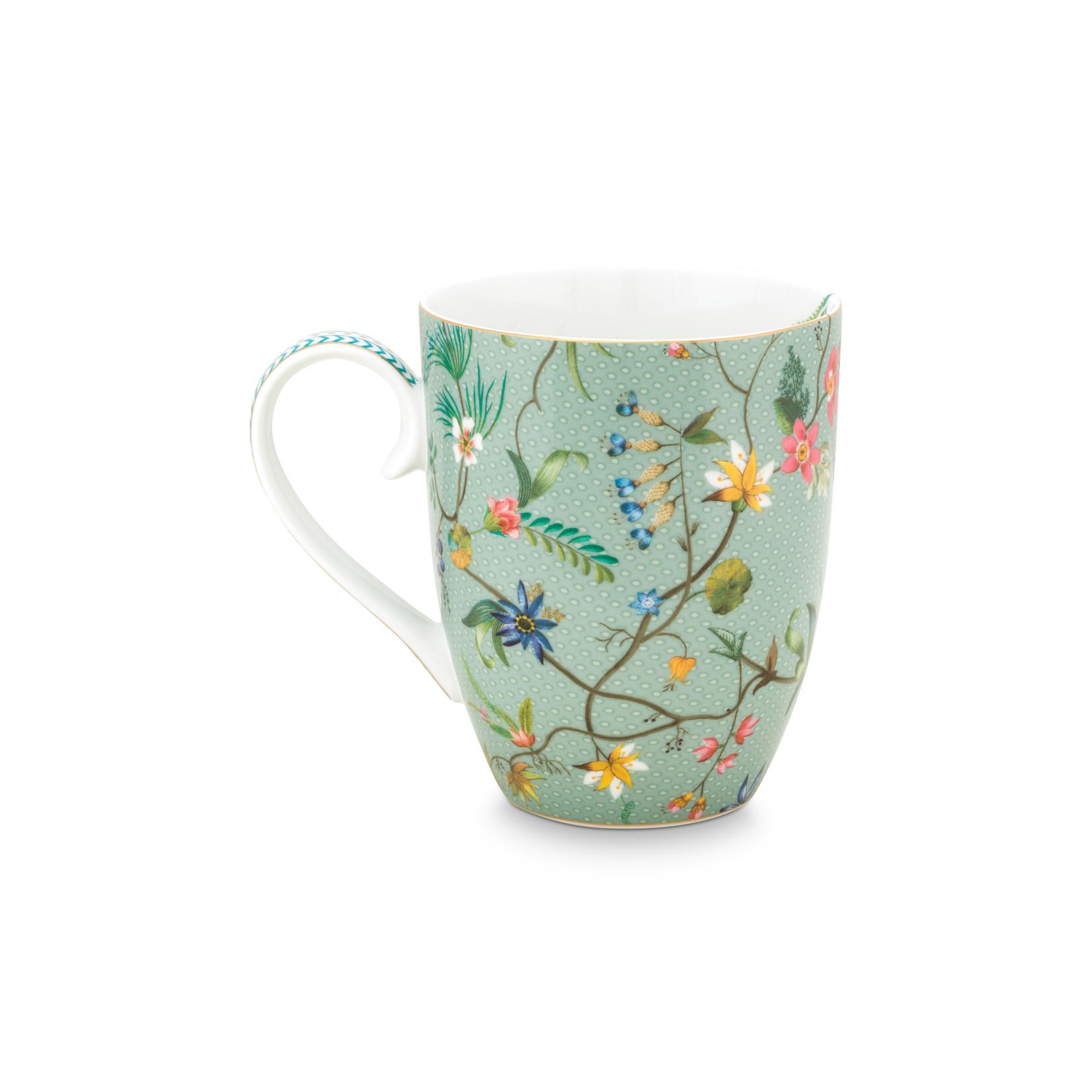 PIP Studio Mug Large Jolie Flowers Blue 350ml