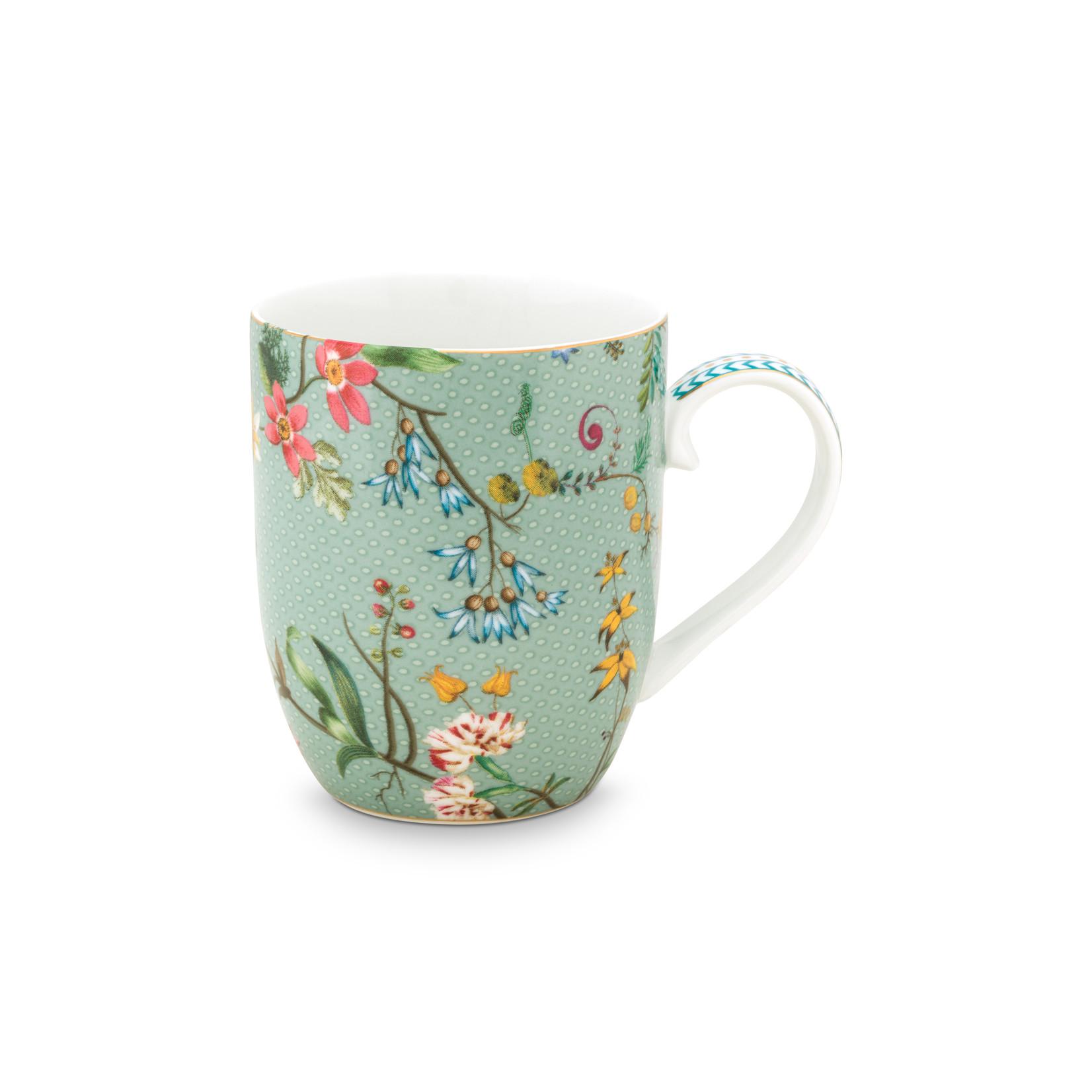 PIP Studio Mug Small / Senseo mokje Jolie Flowers Blue 145ml
