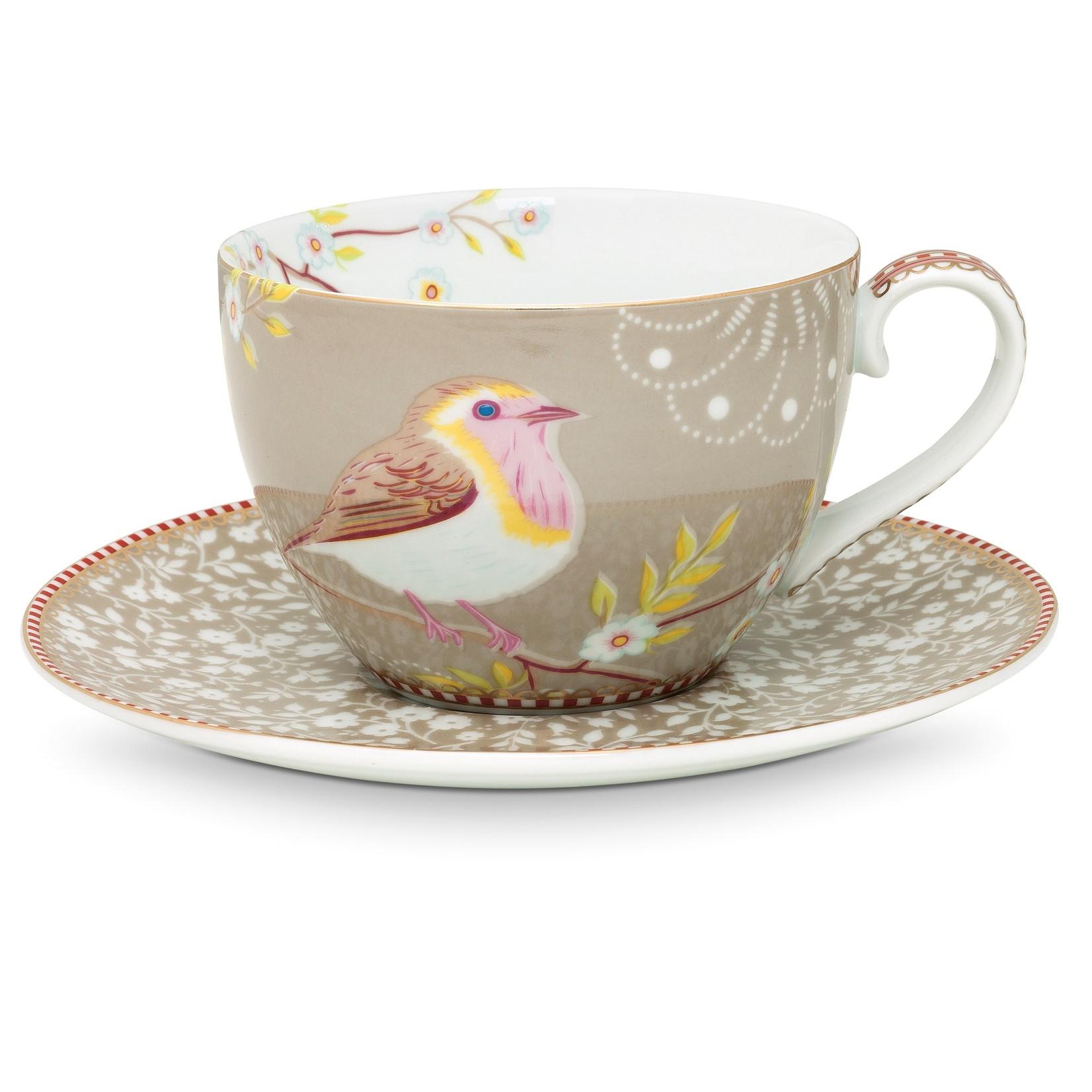 PIP Studio Cup & Saucer Early Bird Khaki 280ml