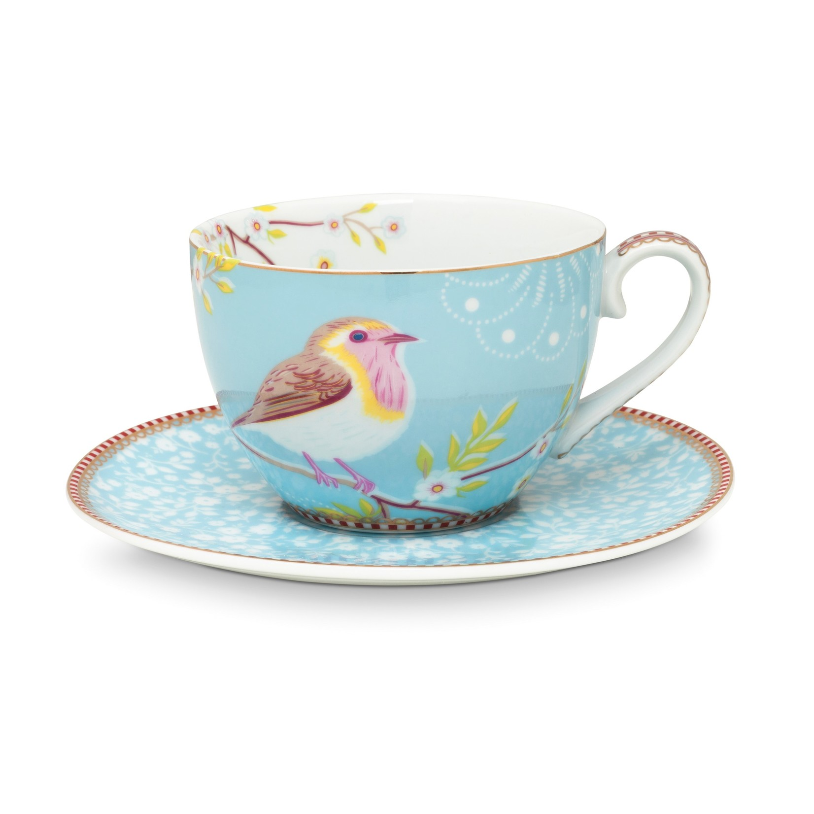 PIP Studio Cup & Saucer Early Bird Blue 280ml