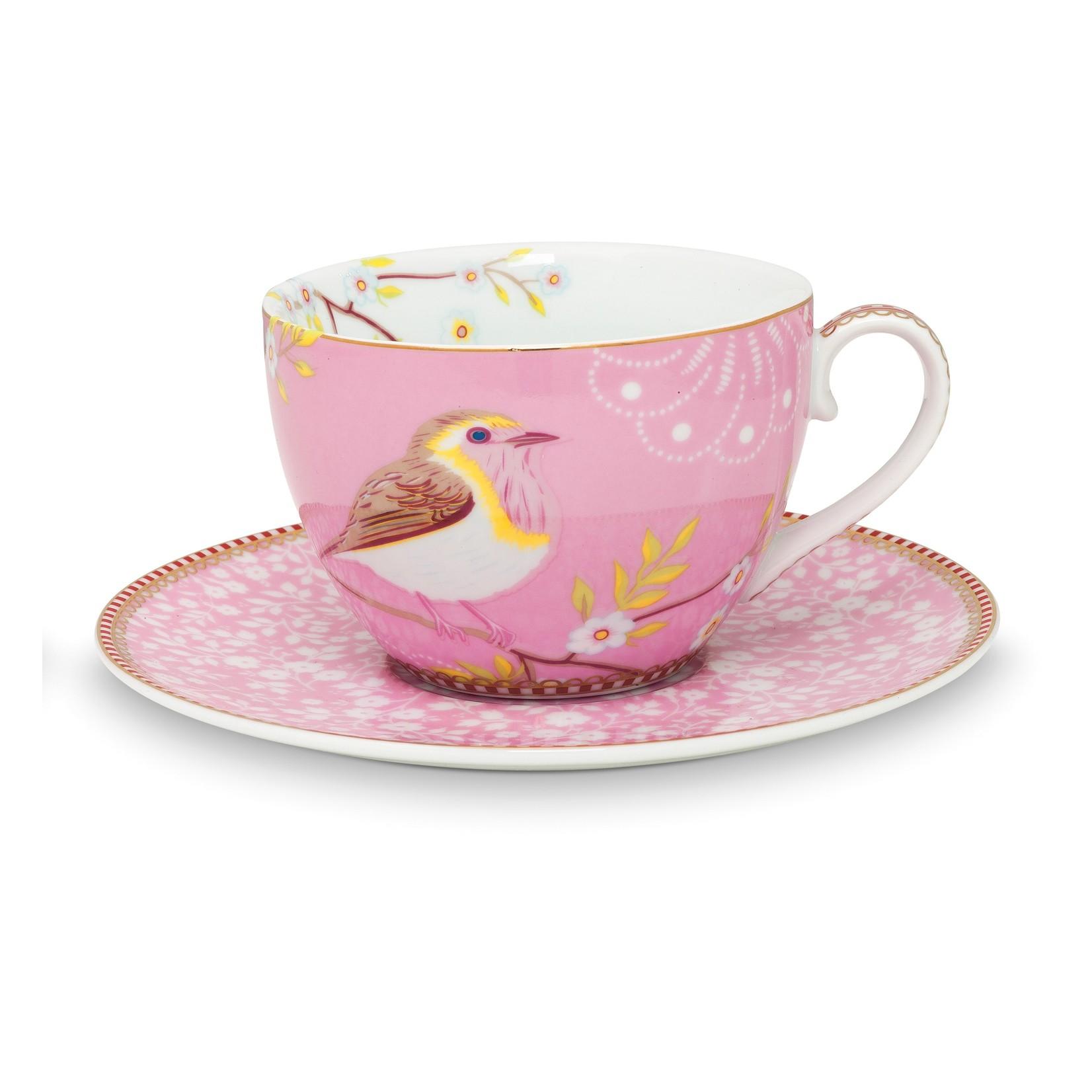 PIP Studio Cup & Saucer / Kop en schotel Early Bird Pink 280ml