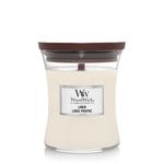 WoodWick WW Linen Medium Candle