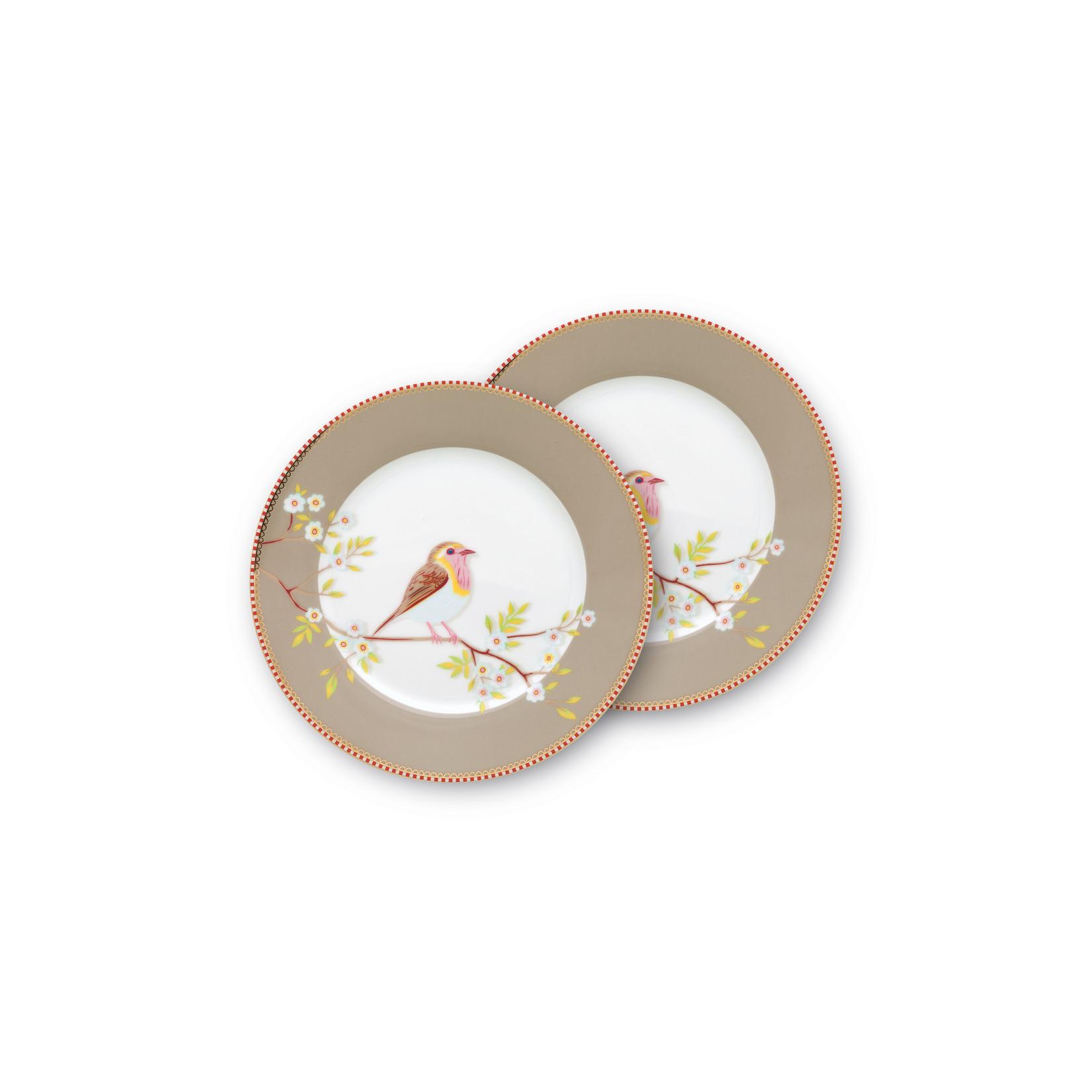 PIP Studio Plate Early Bird Khaki 21cm