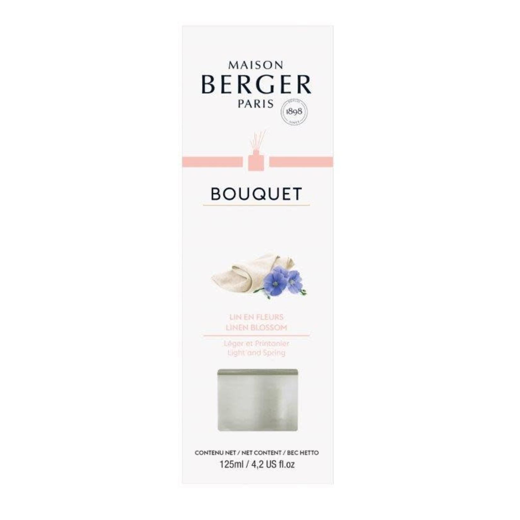 Lampe Berger Parfumverspreider met sticks Cube 125ml Lin en Fleurs