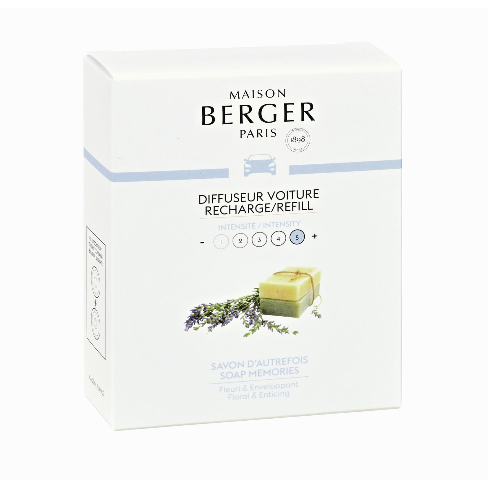 Lampe Berger Autoparfum navulling 2 stuks Savon d'Autrefois