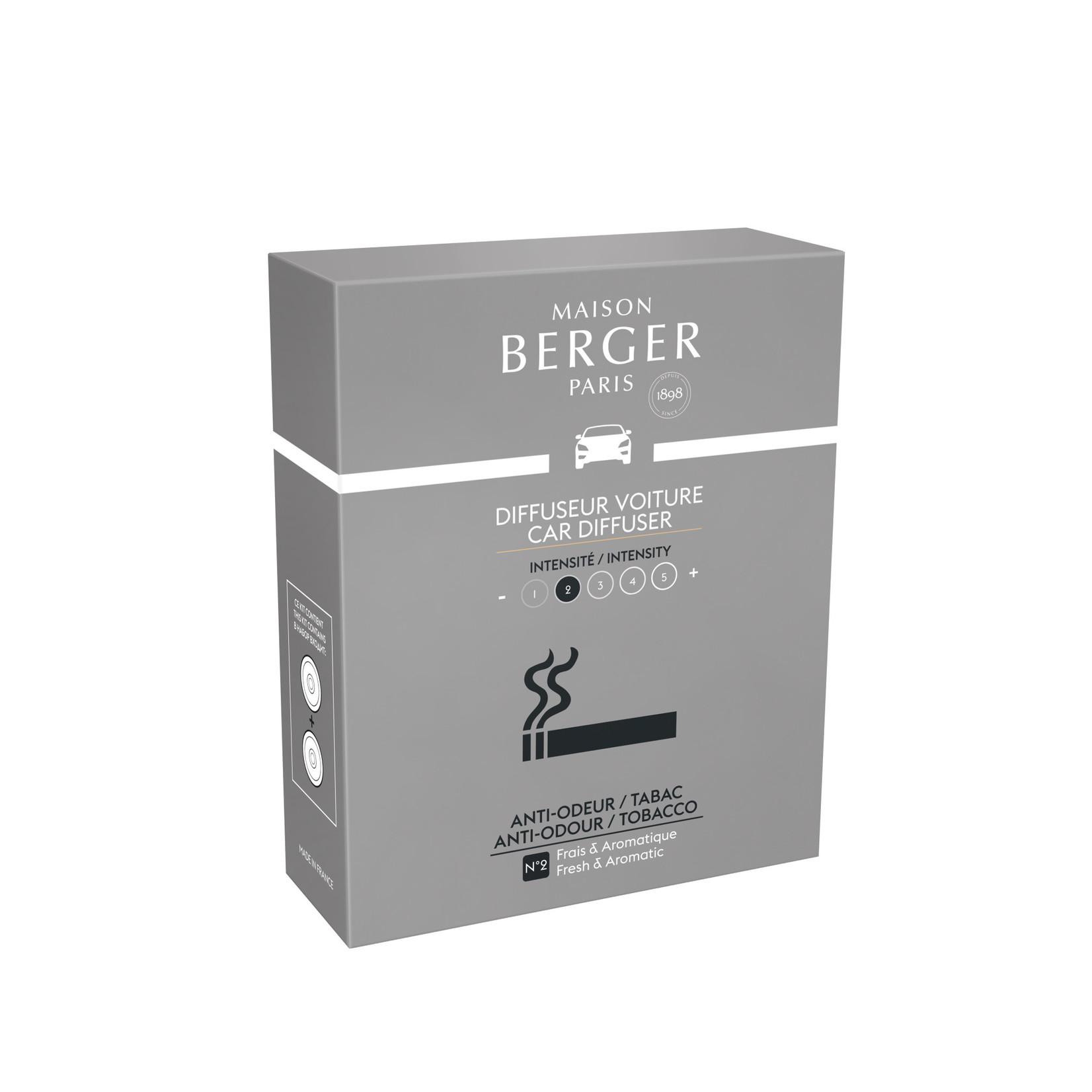 Lampe Berger Autoparfum navulling 2 stuks Anti mauvaises odeurs tabac