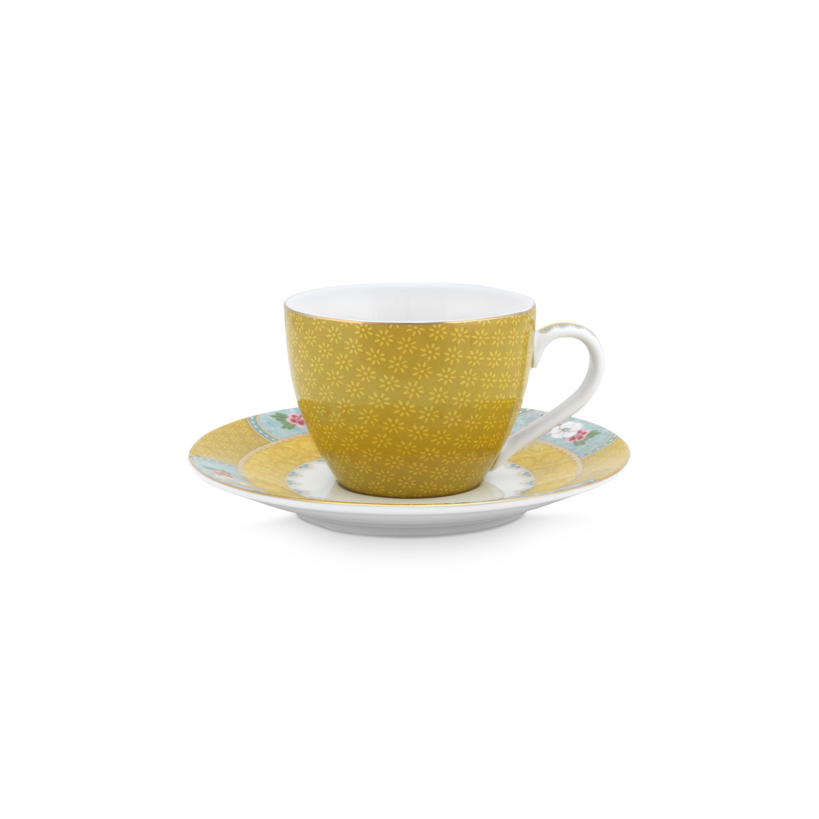 PIP Studio Espresso Cup & Saucer Blushing Birds Yellow 120ml