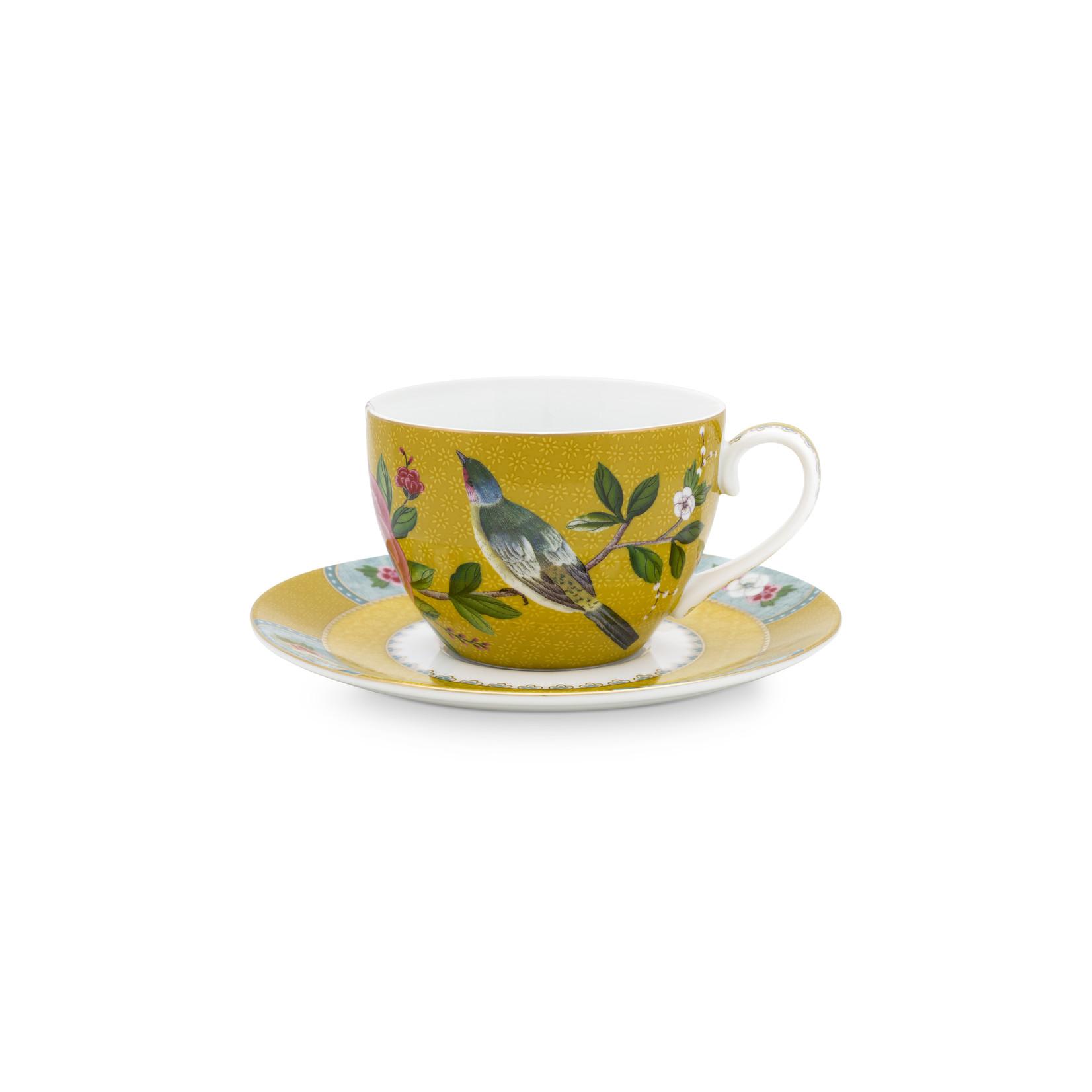 PIP Studio Cup & Saucer Blushing Birds Yellow