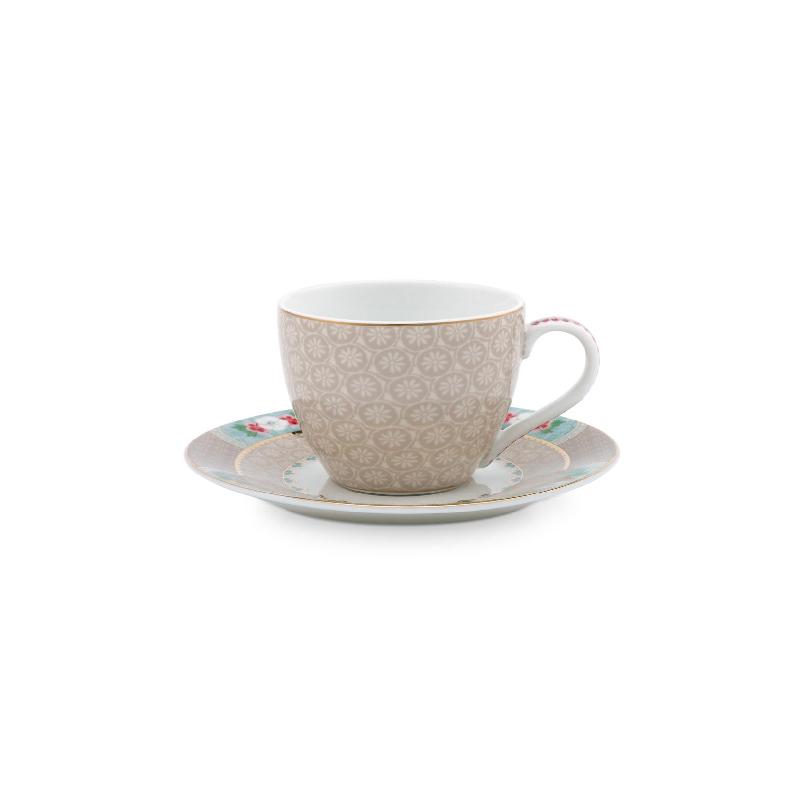 PIP Studio Espresso Cup & Saucer Blushing Birds Khaki 120ml