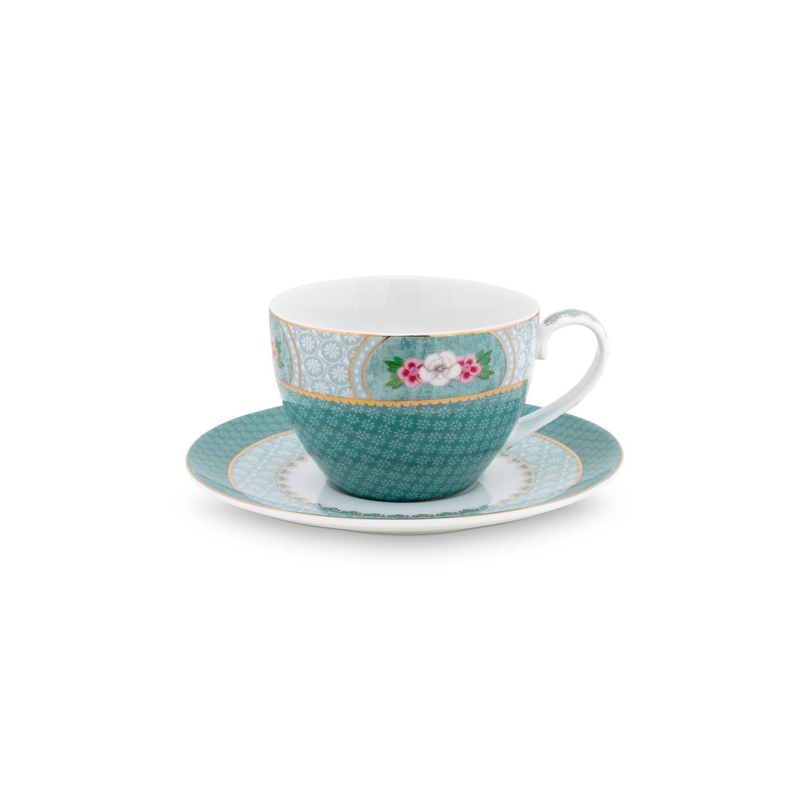 PIP Studio Cup & Saucer Blushing Birds Blue 280ml