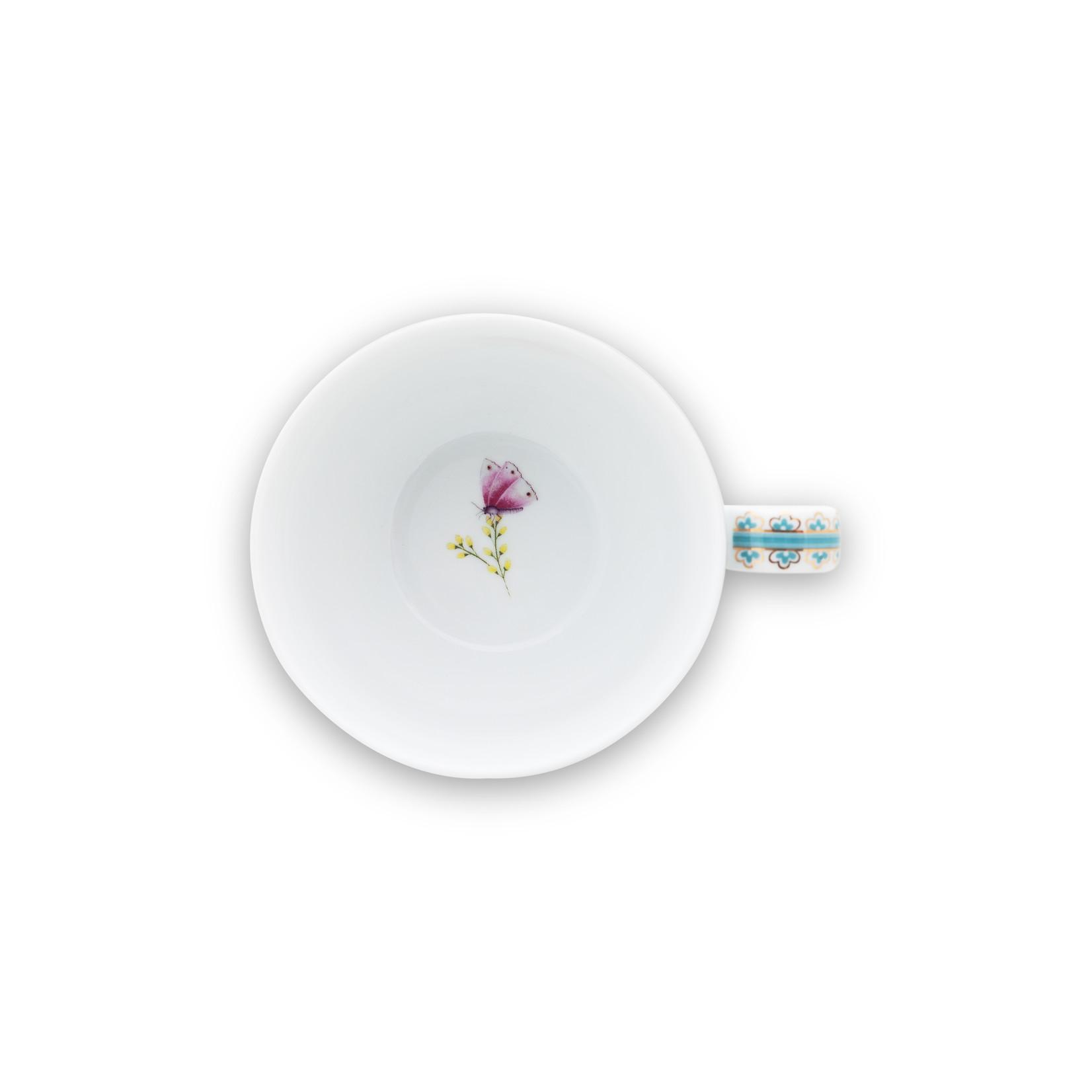 PIP Studio Cup & Saucer Blushing Birds White 280ml