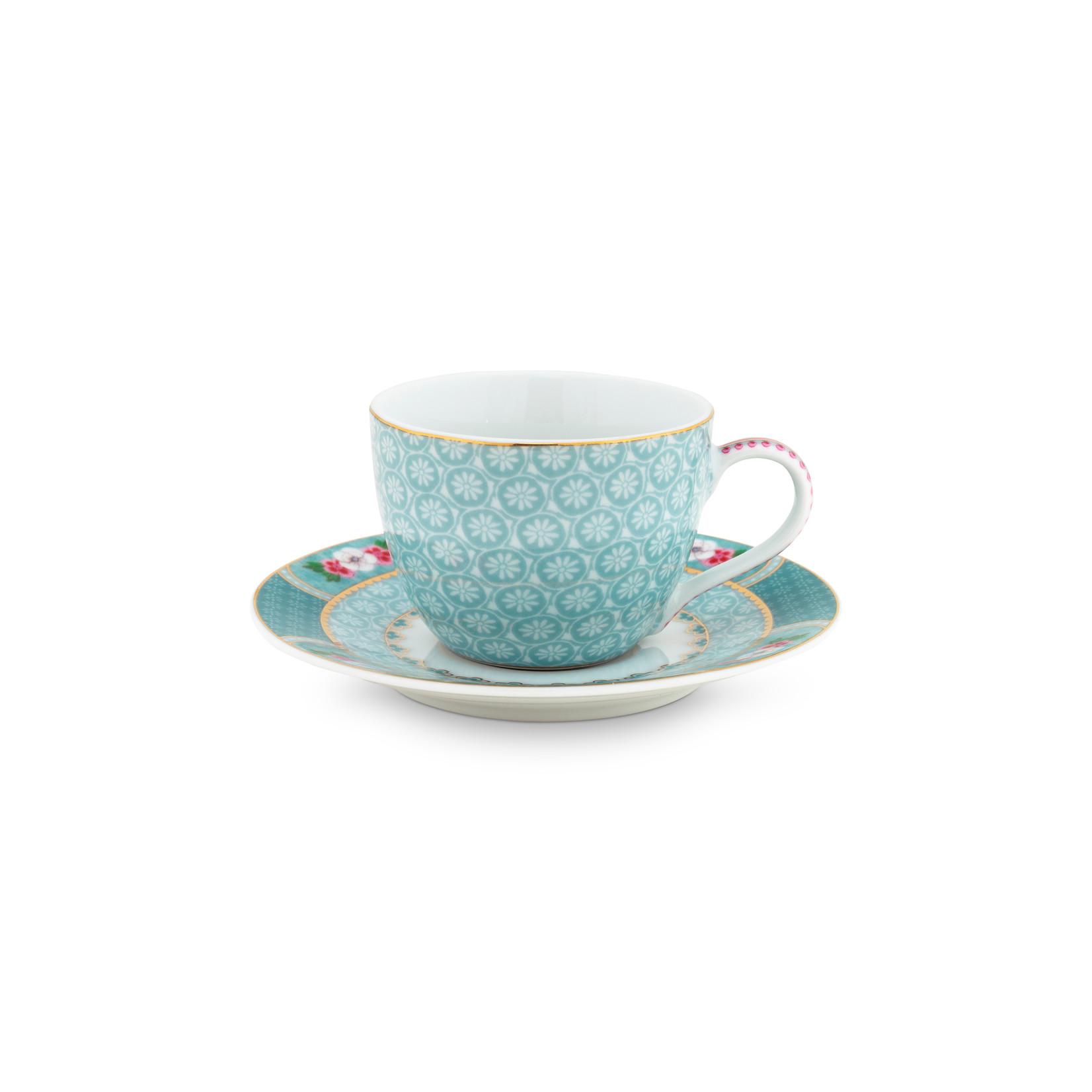PIP Studio Espresso Cup & Saucer Blushing Birds Blue 120ml