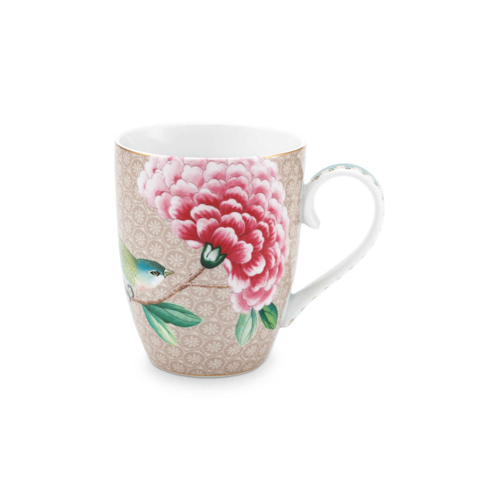 PIP Studio Mug Large Blushing Birds Khaki 350ml