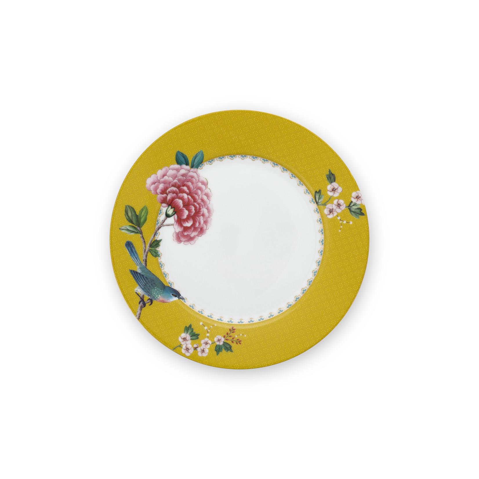 PIP Studio Plate / Ontbijtbord Blushing Birds Yellow 21cm
