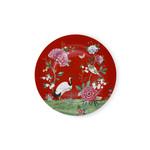 PIP Studio Plate Blushing Birds Red 32cm