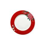 PIP Studio Plate Blushing Birds Red 26.5cm