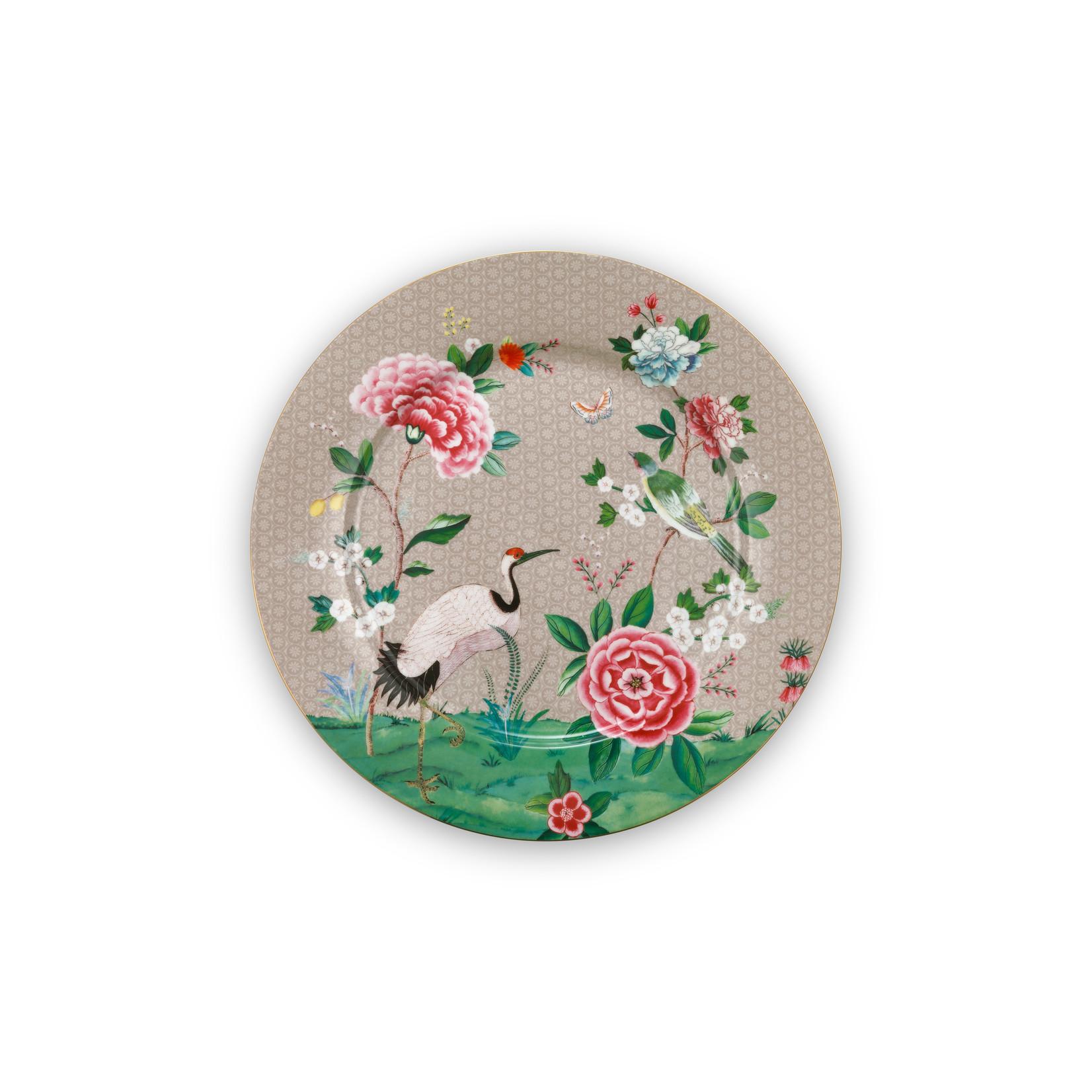 PIP Studio Plate Blushing Birds Khaki 32cm