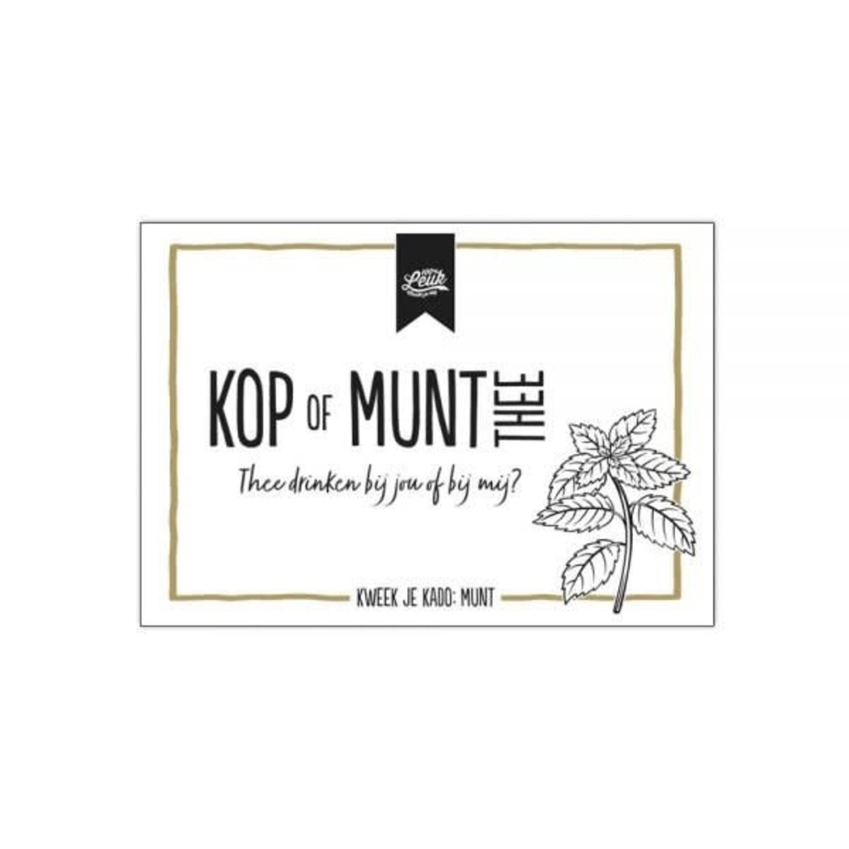100% leuk Kruidenlijn - Kop of Munt Thee