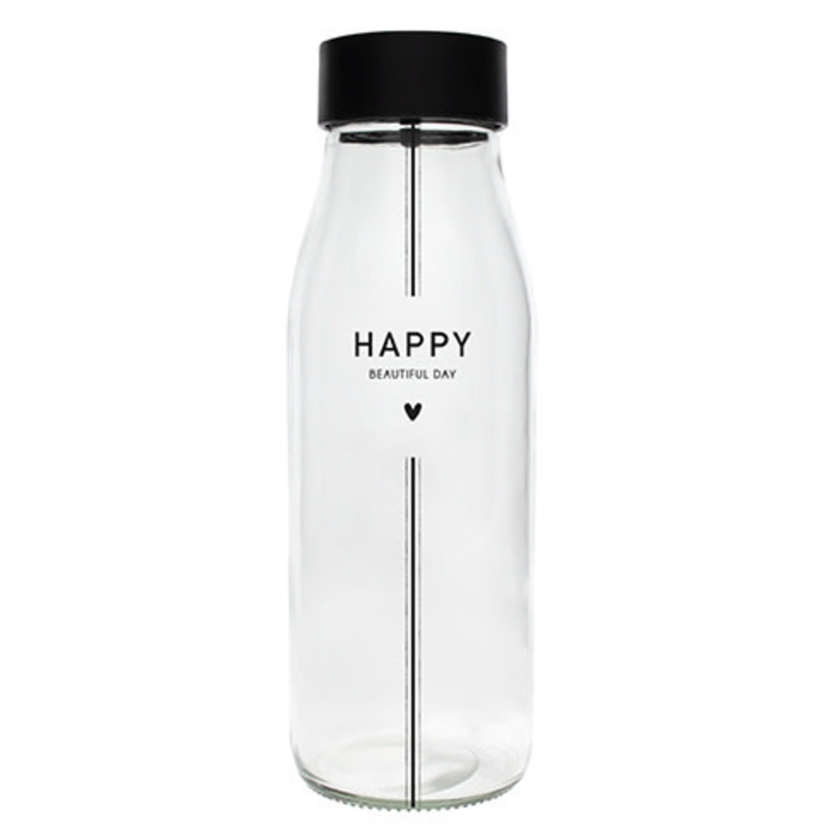Bastion Collections Carafe / Karaf Glass Happy  in Black
