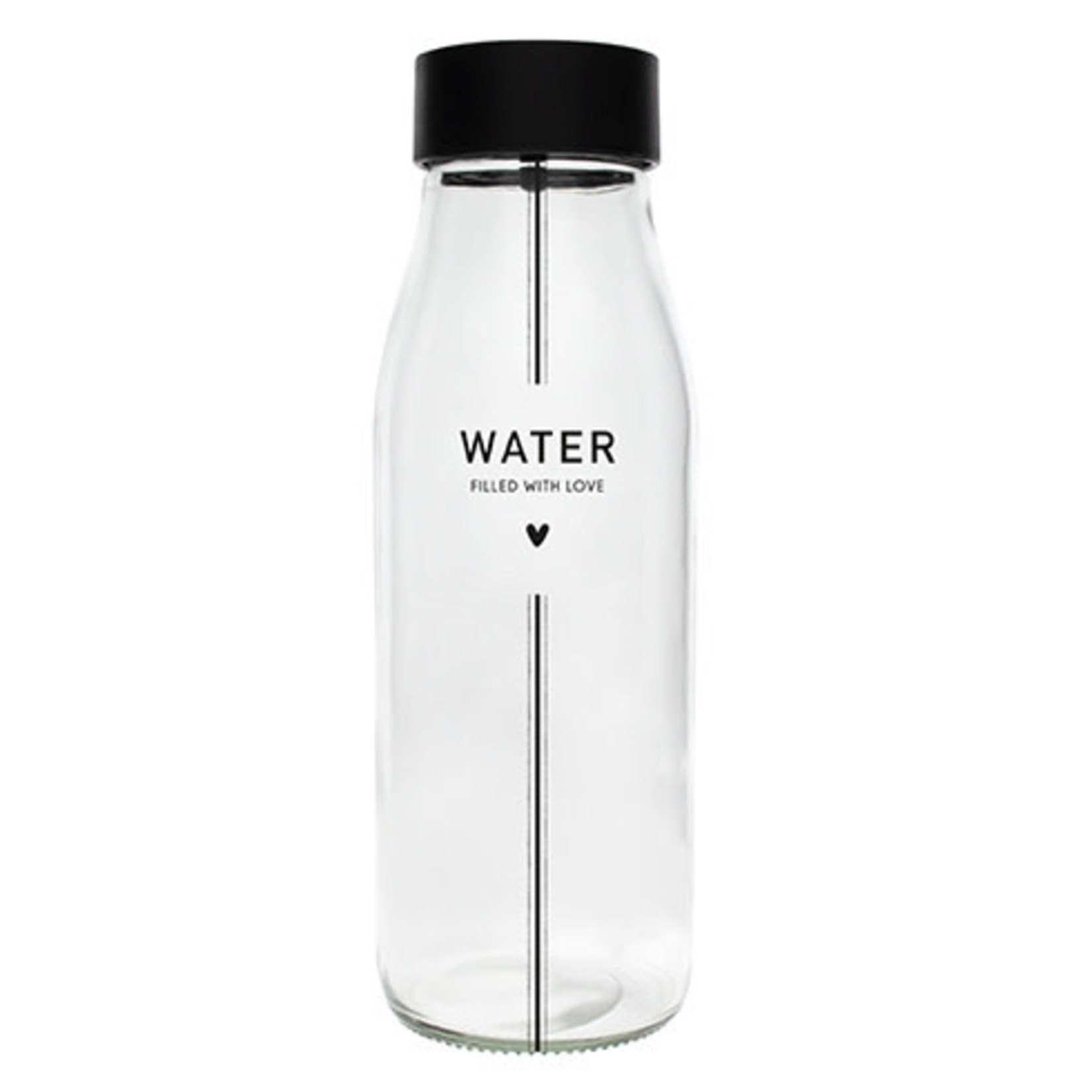 Bastion Collections Carafe / Karaf Glass Water in Black