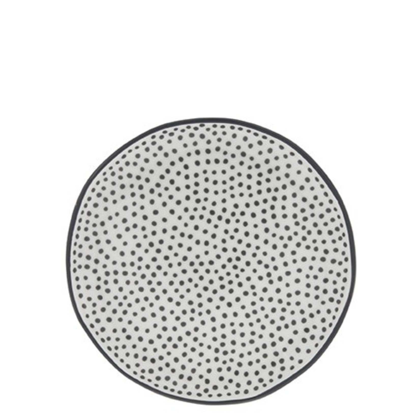 Bastion Collections Cake Plate 16cm White Little Dots in Black