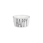 Bastion Collections Bowl XS White Happy in Black