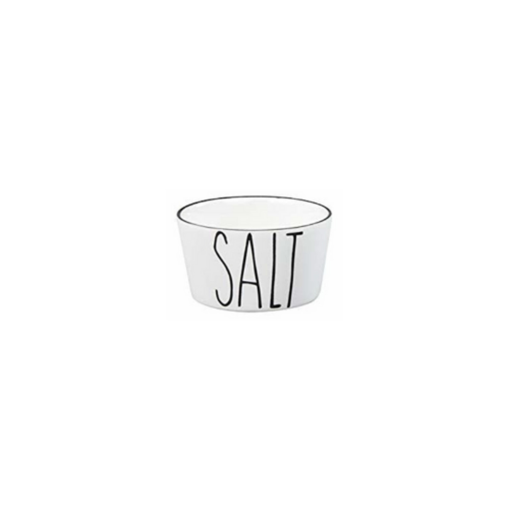 Bastion Collections Bowl XS White Salt in Black