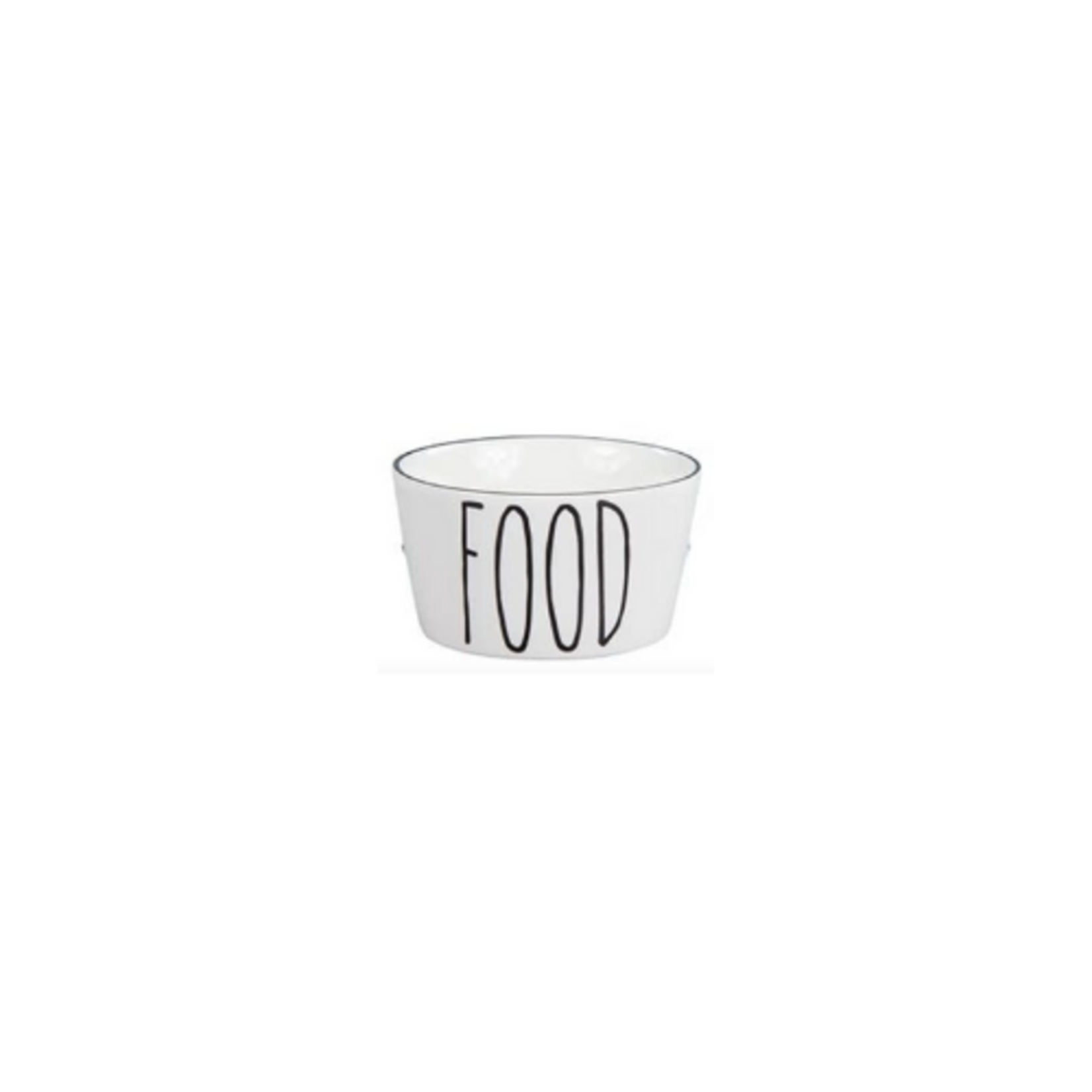 Bastion Collections Bowl XS White Food in Black