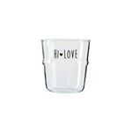 Bastion Collections Water Glass Hi Love in Black