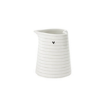 Bastion Collections Jug White Stripes Heart XS in Titane