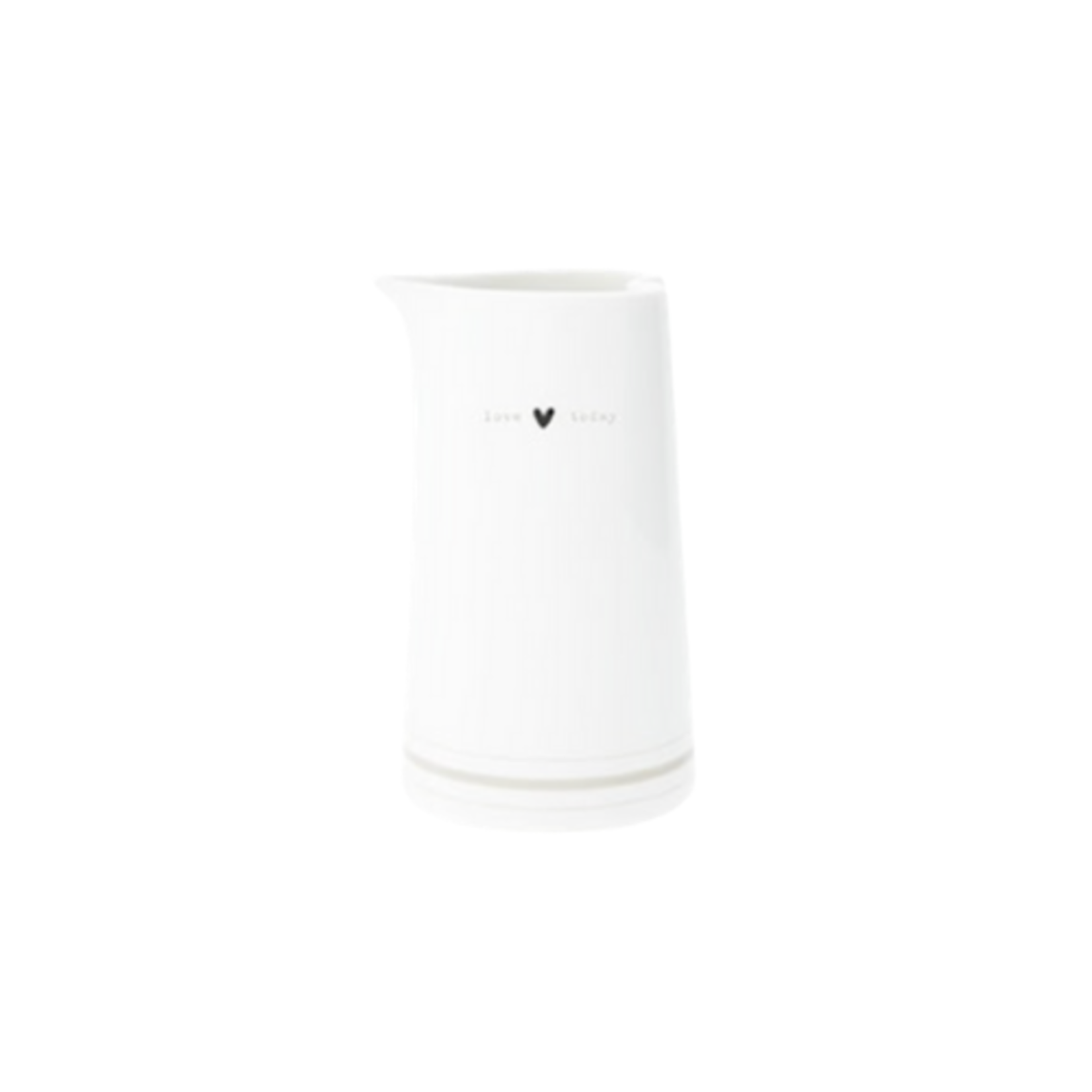 Bastion Collections Jug White Love Today medium