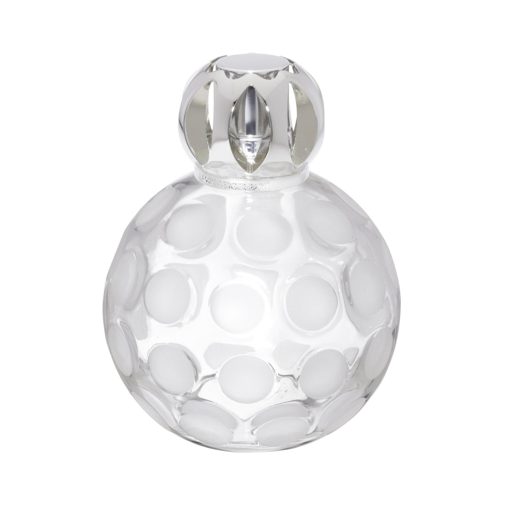 Lampe Berger Lampe Berger Luxe fles Frosted  Dots  met zilver