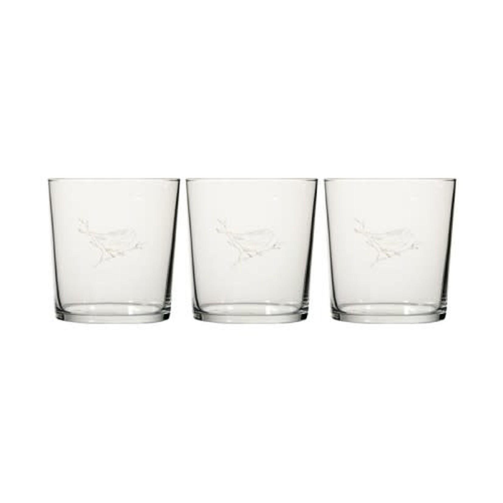Mijn Stijl Glas met print vogel goud