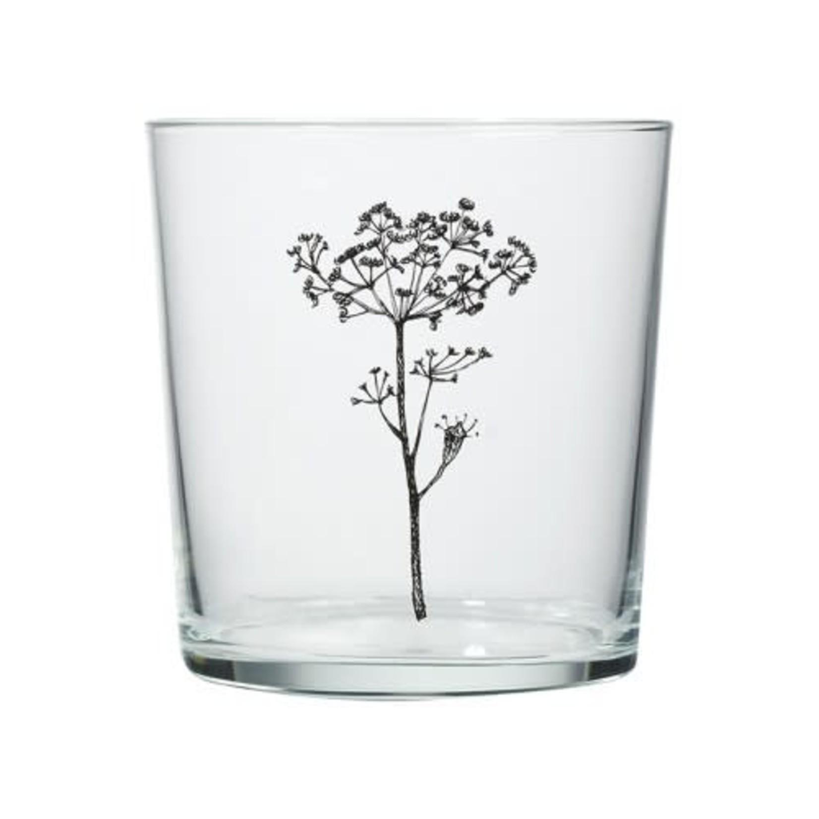 Mijn Stijl Glas met print bloem